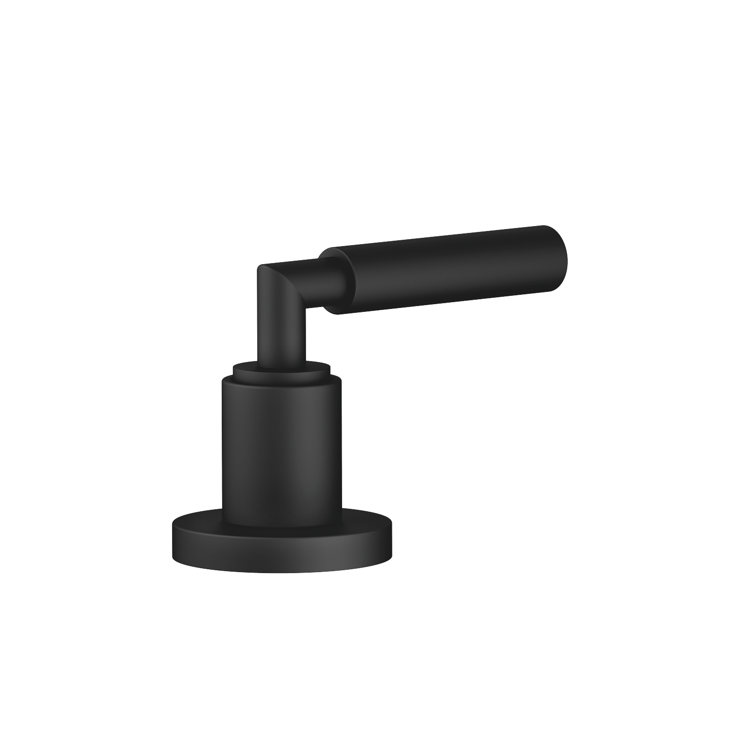 Deck valve counter-clockwise closing - black matte