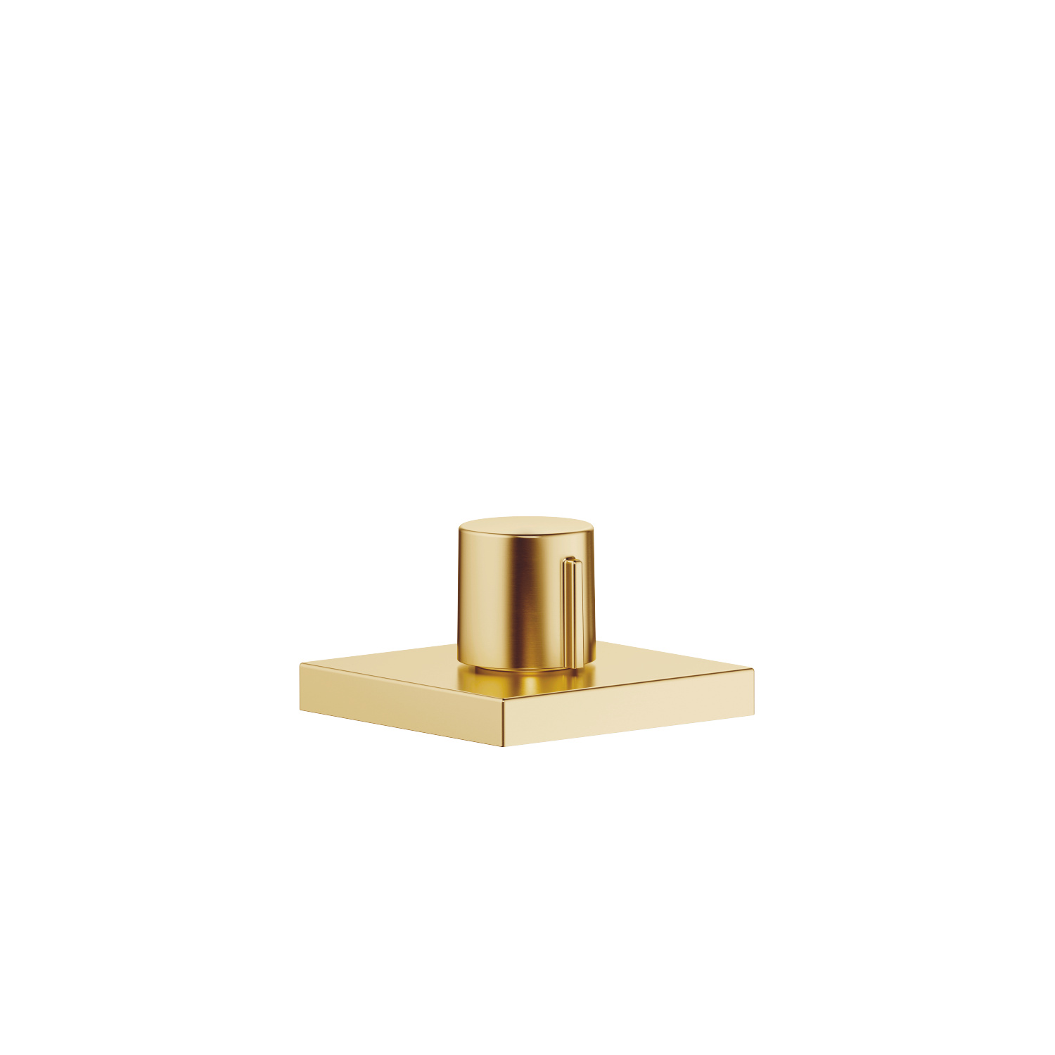 Deck valve counter-clockwise closing hot or cold - Brushed Durabrass