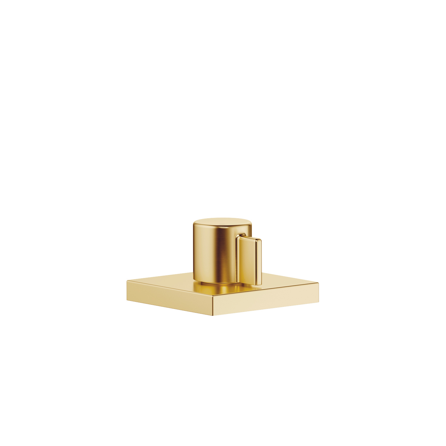 Deck valve anti-clockwise closing hot - brushed Durabrass