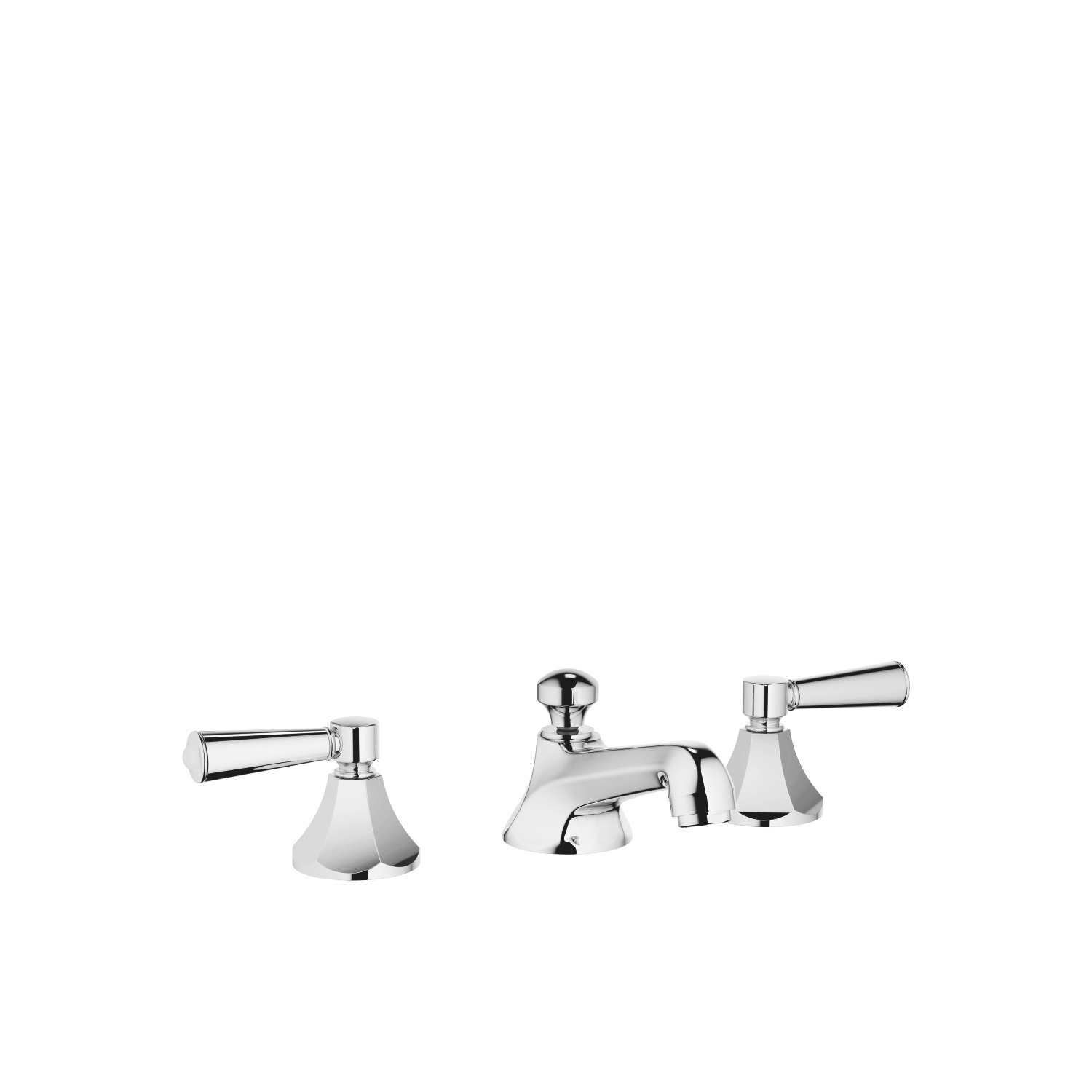 Three-hole basin mixer with pop-up waste - polished chrome - 20 700 370-00 0010