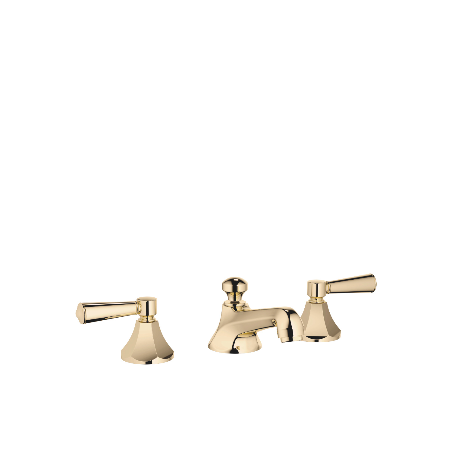 Three-hole basin mixer with pop-up waste - Durabrass