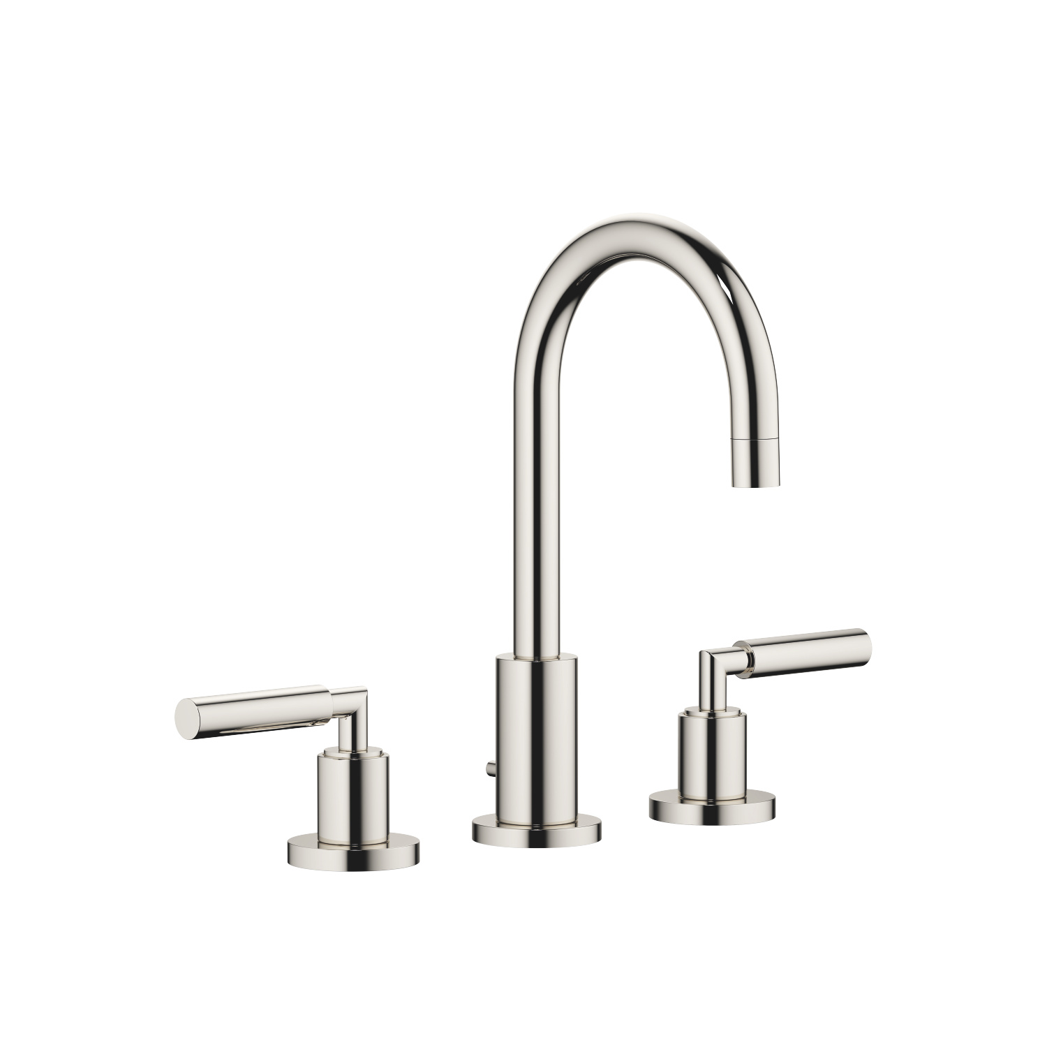 Three-hole basin mixer with pop-up waste - platinum