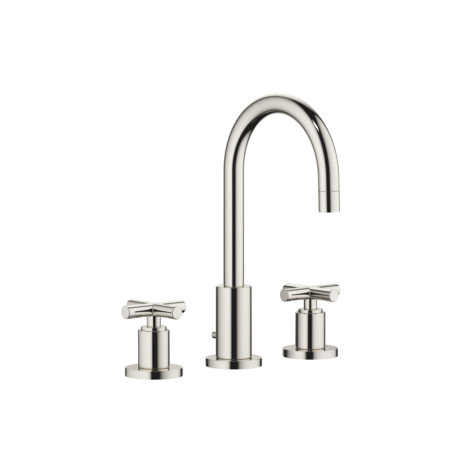 Three-hole basin mixer with pop-up waste - platinum - 20 710 892-08 0010