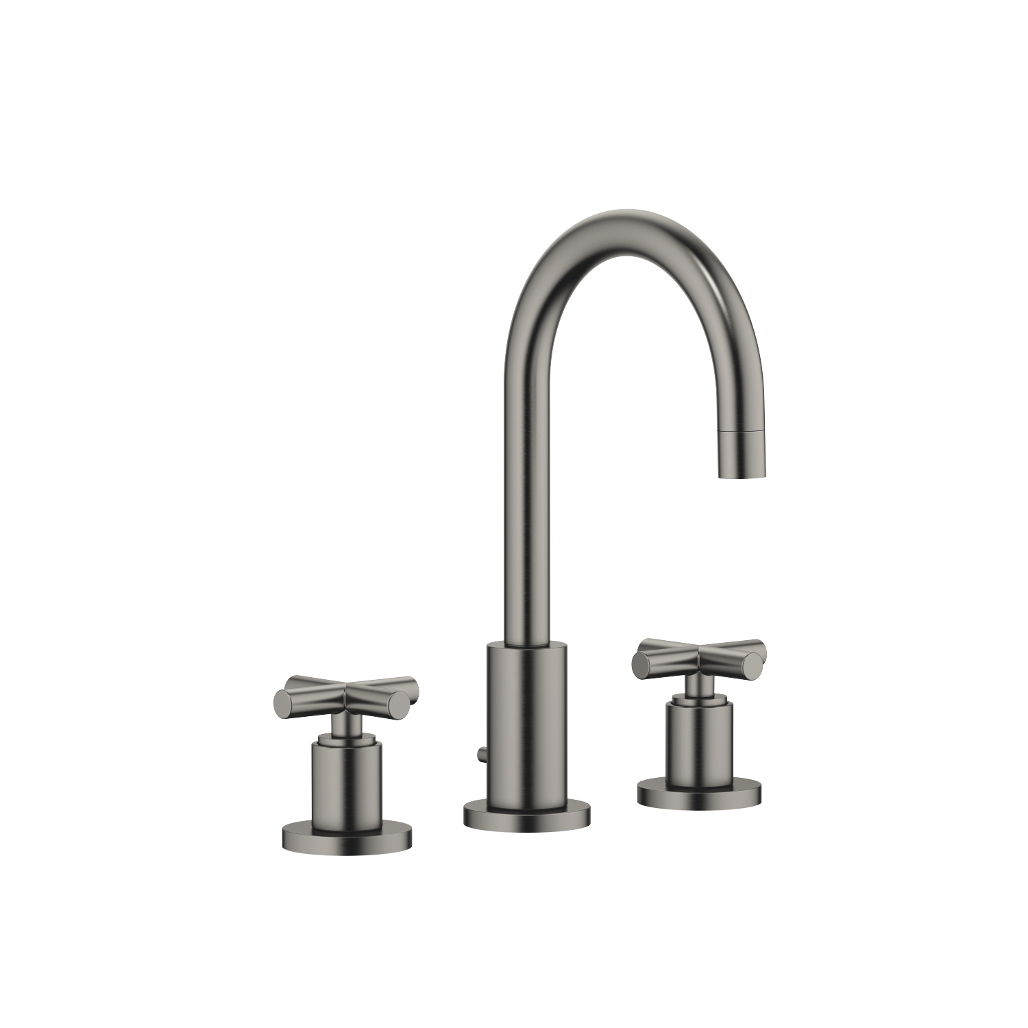 Three-hole basin mixer with pop-up waste - Dark Platinum matt