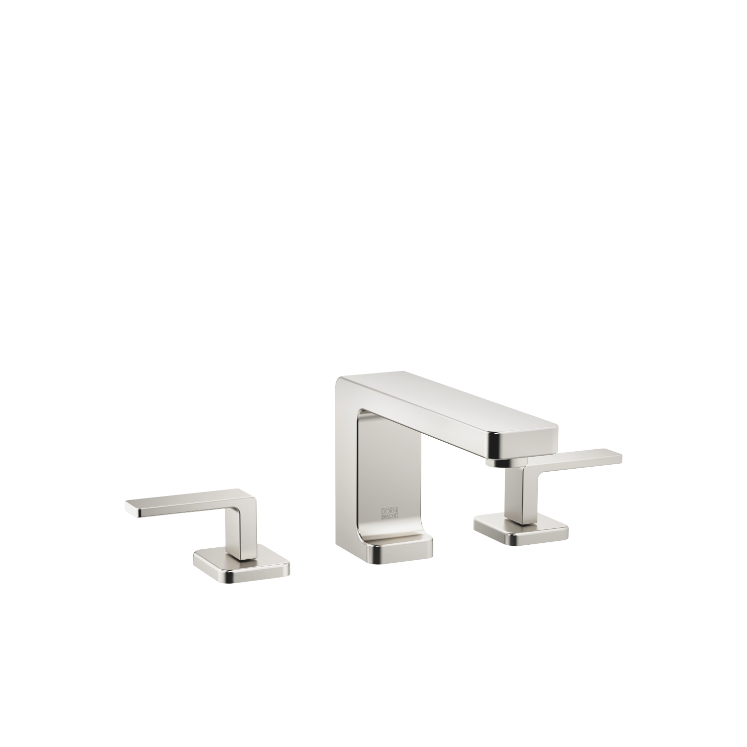Three-hole basin mixer with pop-up waste - platinum matt