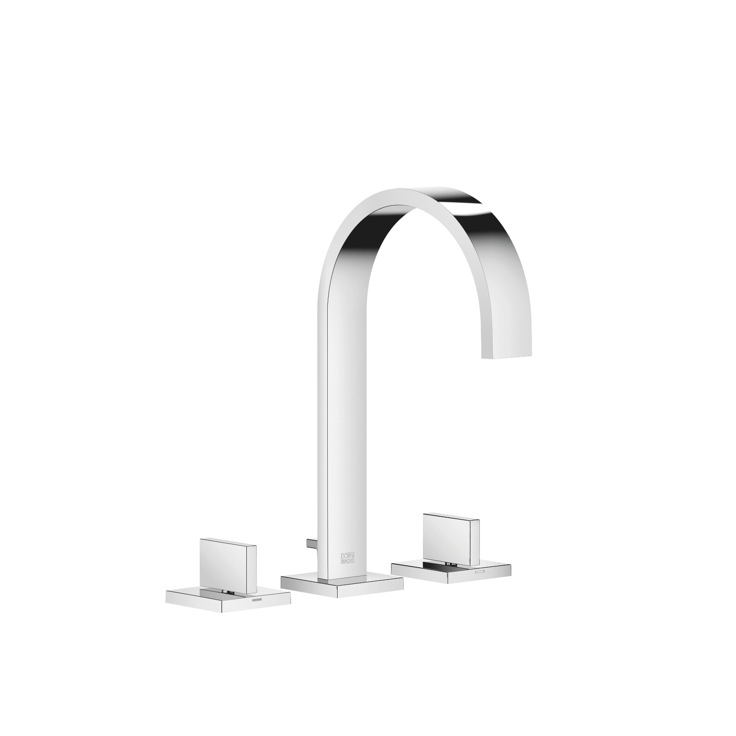 Three-hole basin mixer with pop-up waste - polished chrome - 20 713 782-00