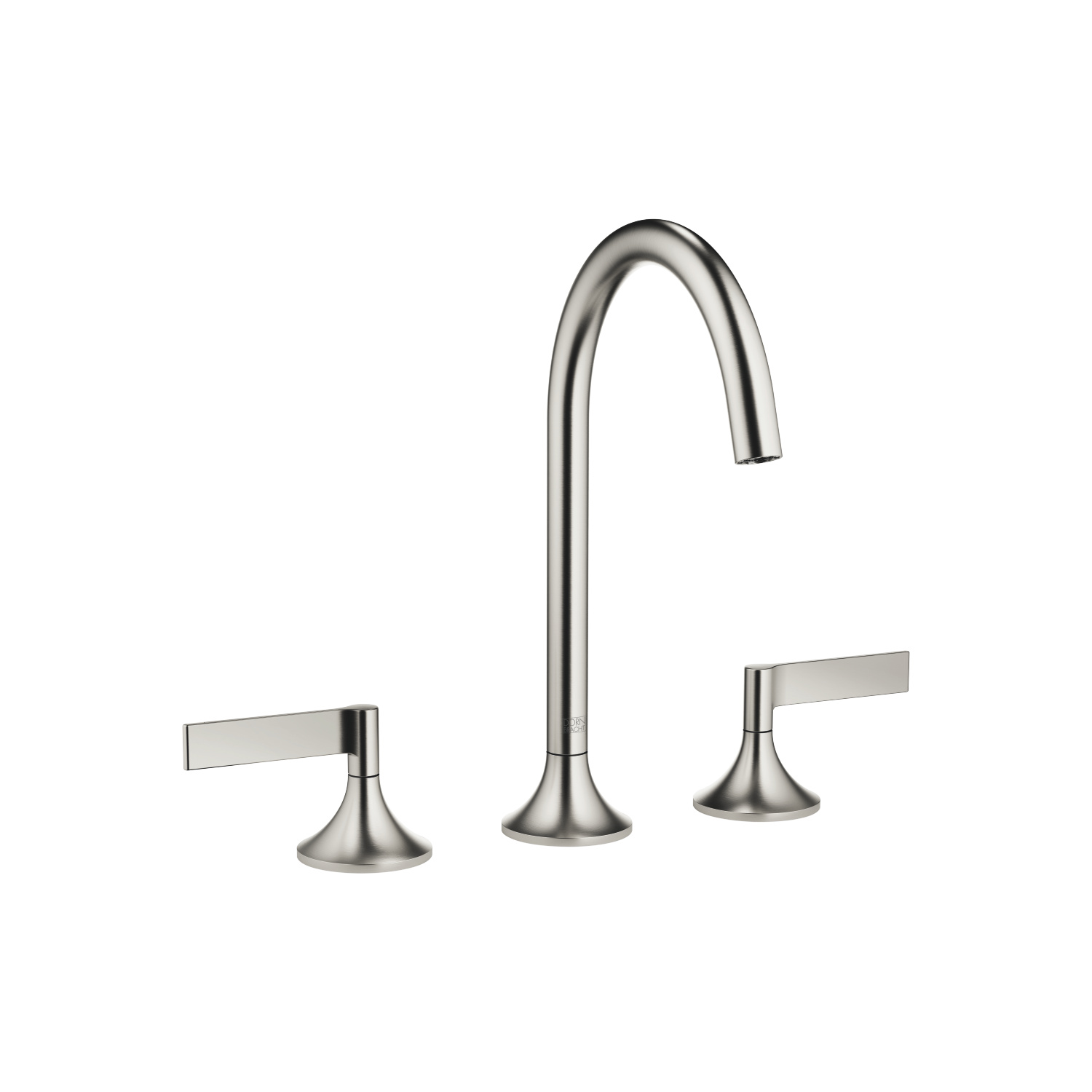 Three-hole basin mixer with pop-up waste - platinum matt - 20 713 819-06