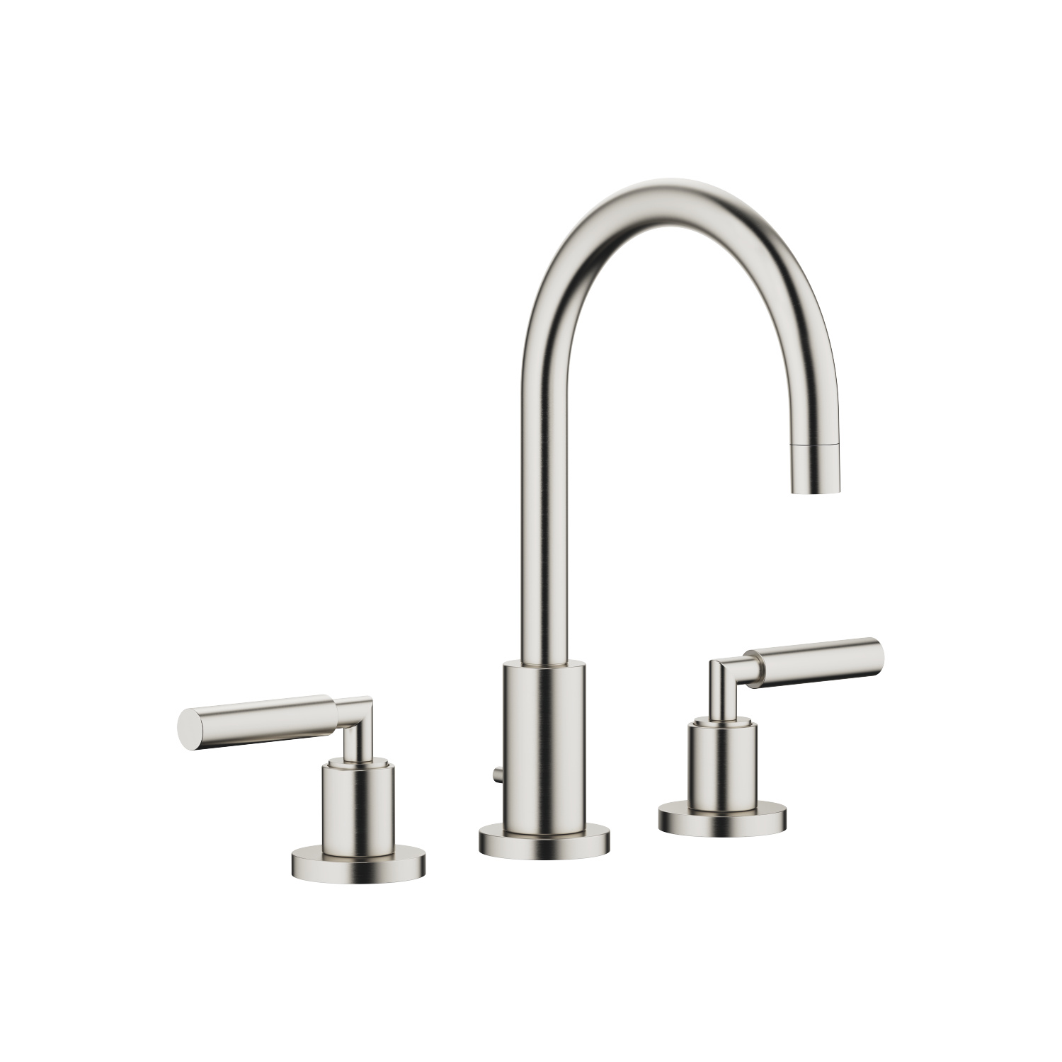Three-hole basin mixer with pop-up waste - platinum matt - 20 713 882-06