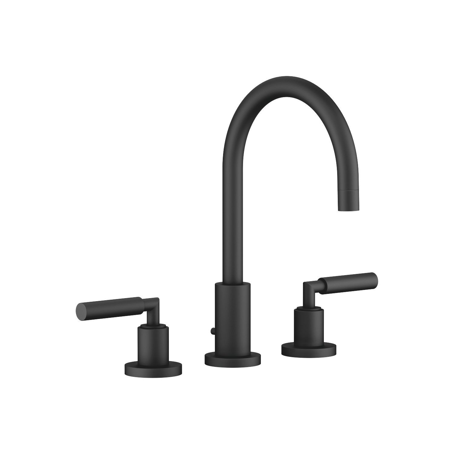 Three-hole basin mixer with pop-up waste - matt black