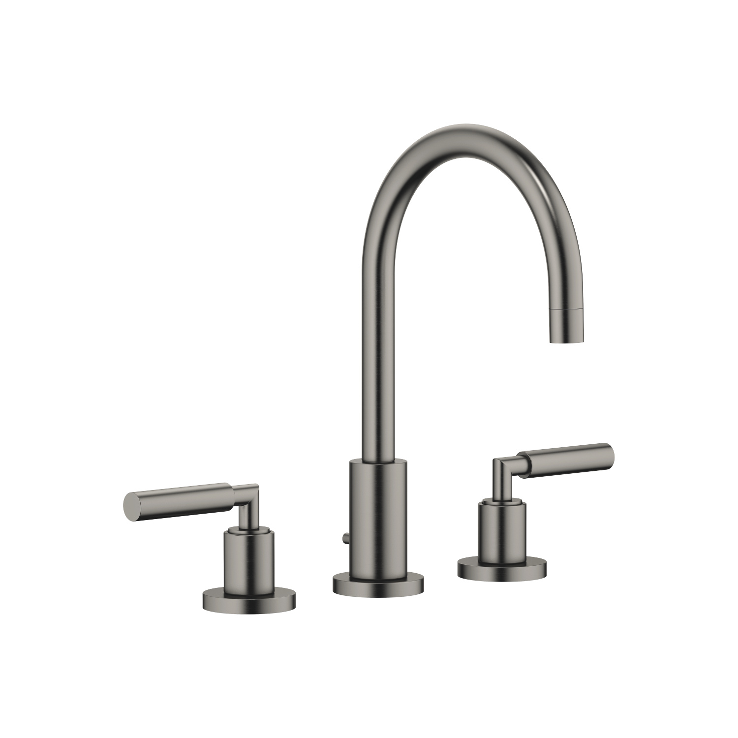 Three-hole lavatory mixer with drain - Dark Platinum matte