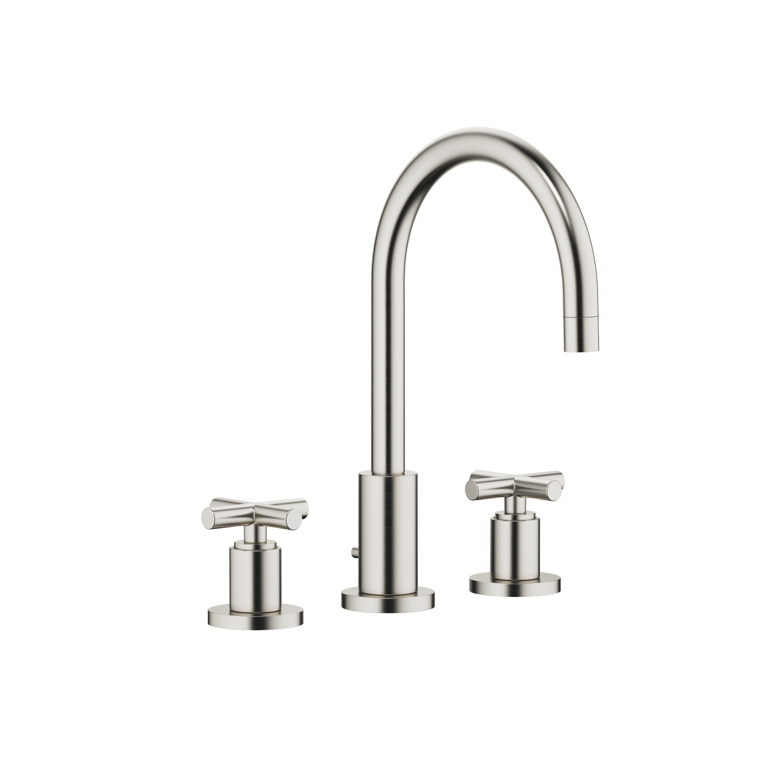 Three-hole basin mixer with pop-up waste - platinum matt - 20 713 892-06