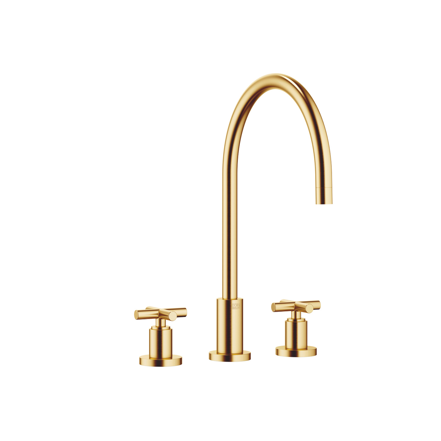 Three-hole mixer - brushed Durabrass