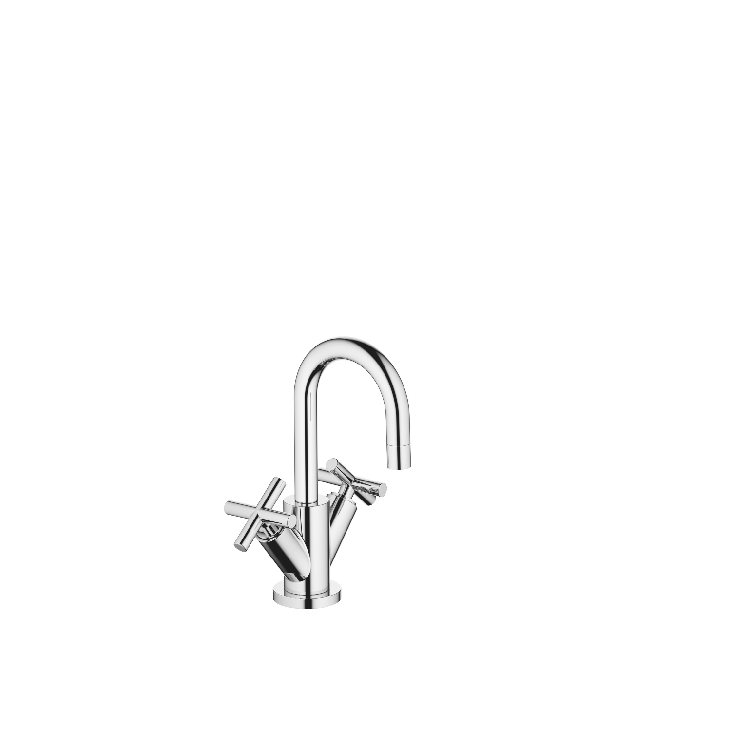 Single-hole basin mixer with pop-up waste - polished chrome