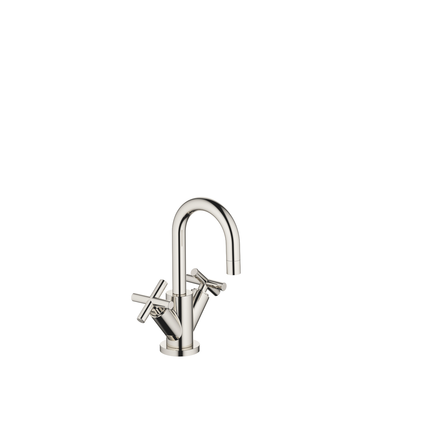 Single-hole basin mixer with pop-up waste - platinum