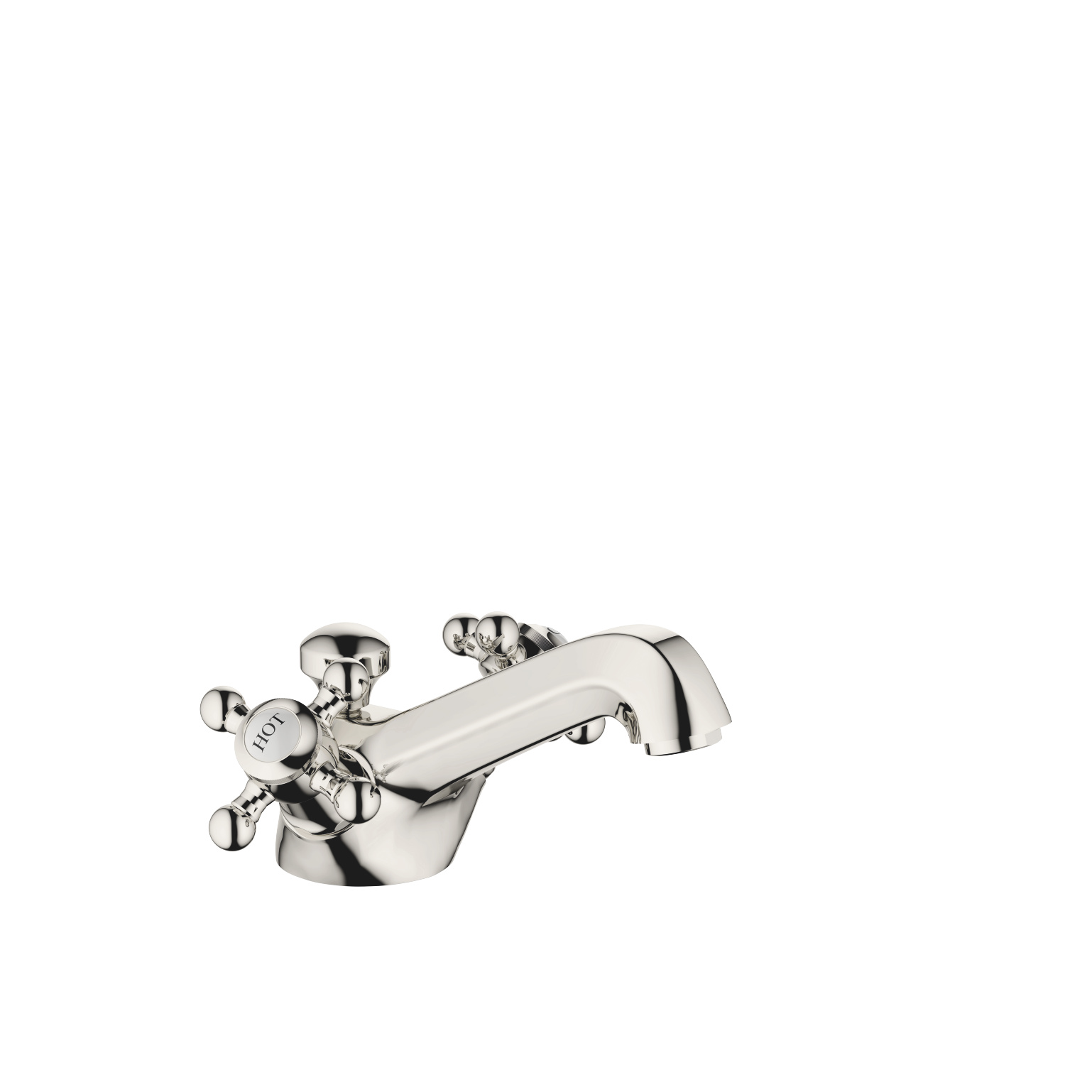 Single-hole basin mixer with pop-up waste - platinum - 22 500 360-08