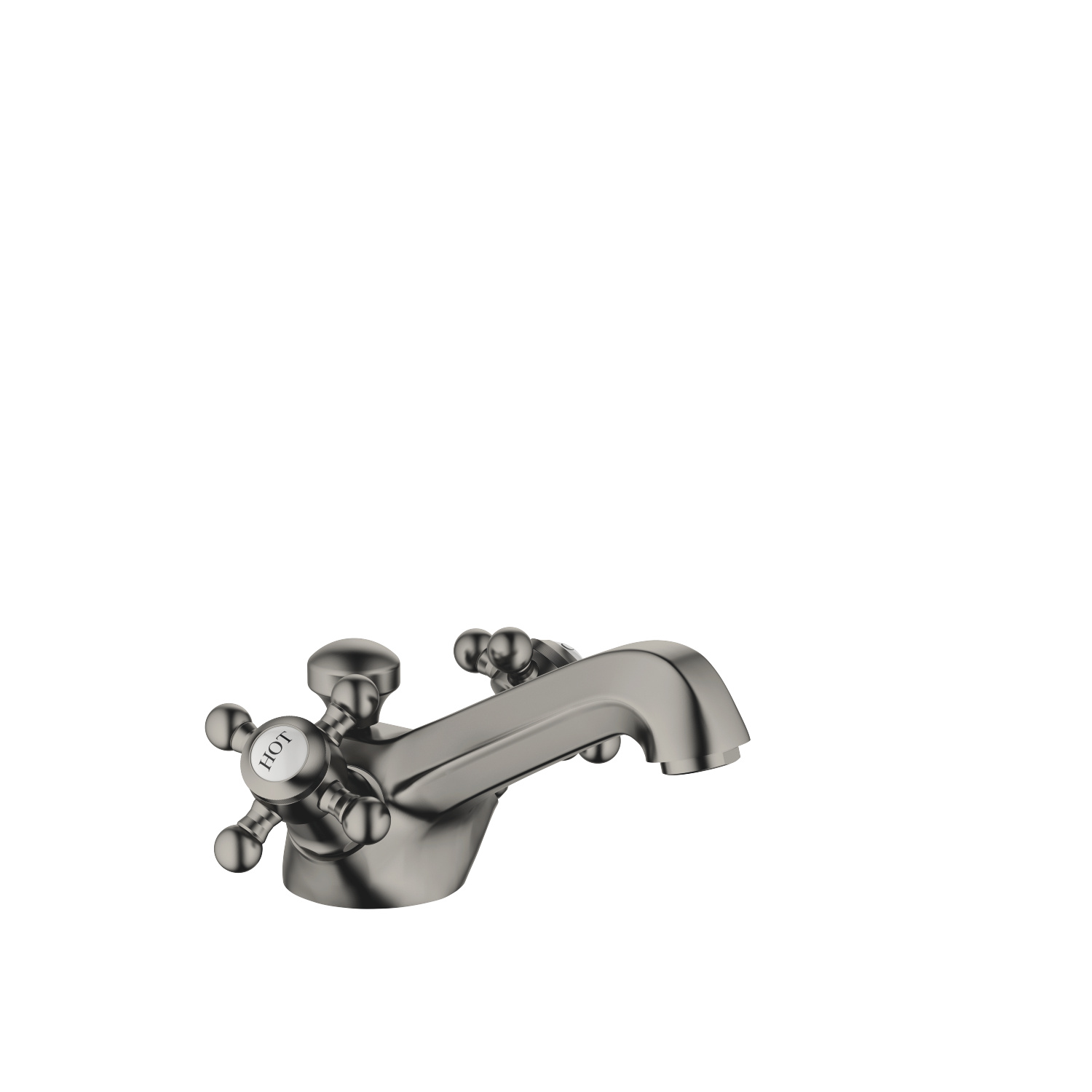Single-hole basin mixer with pop-up waste - Dark Platinum matt