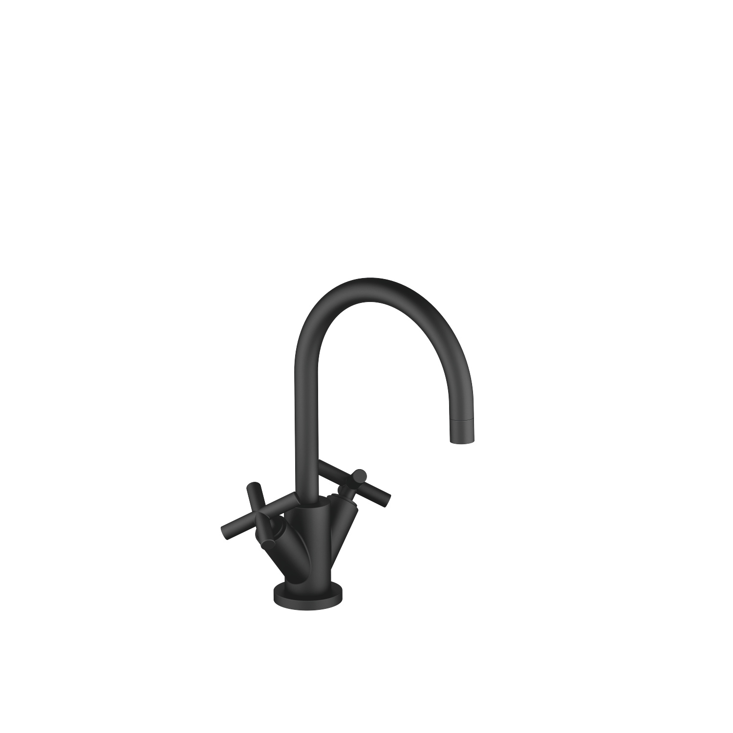 Single-hole basin mixer with pop-up waste - matt black