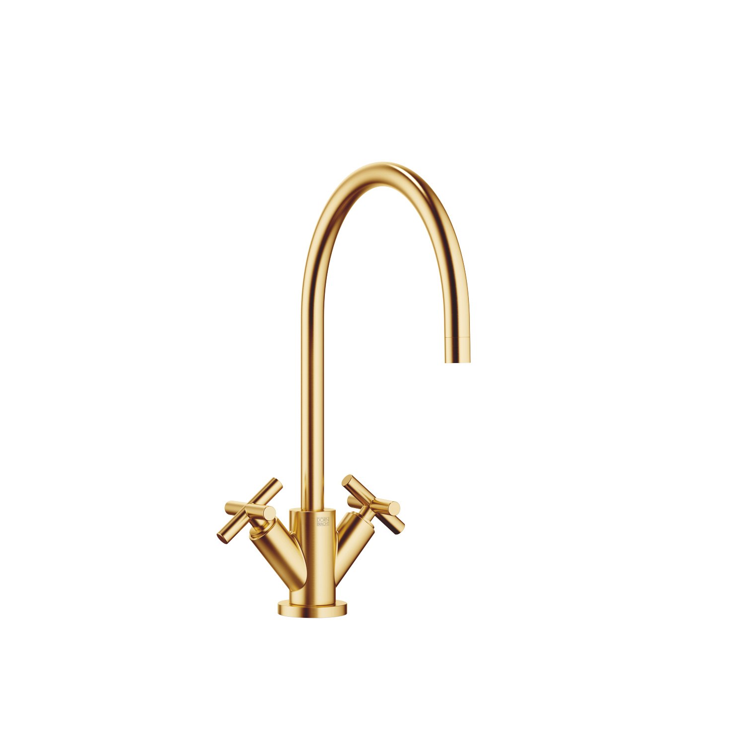 Single-hole mixer - brushed Durabrass