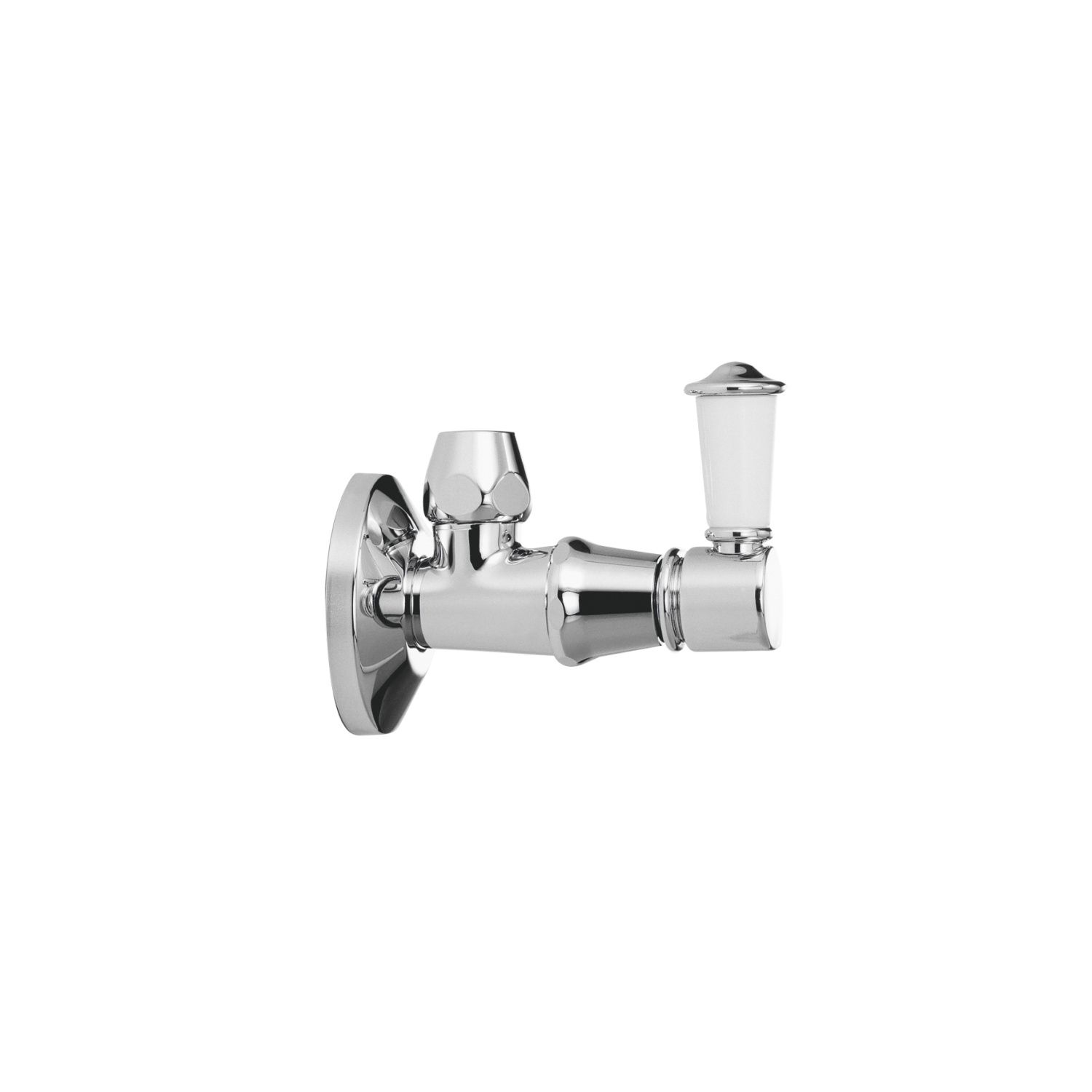 Angle valve - polished chrome
