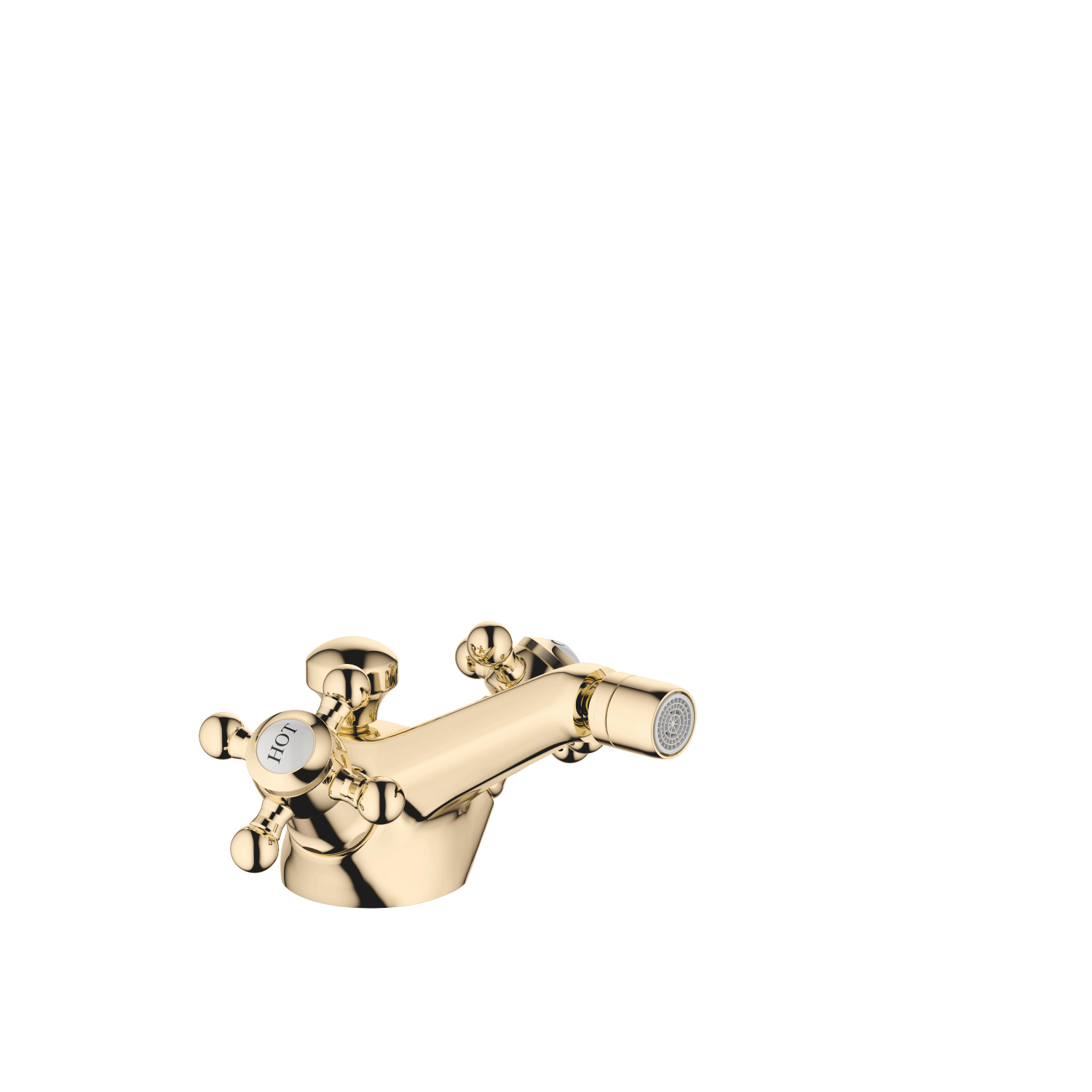 Single-hole bidet mixer with pop-up waste - Durabrass - 24 510 360-09