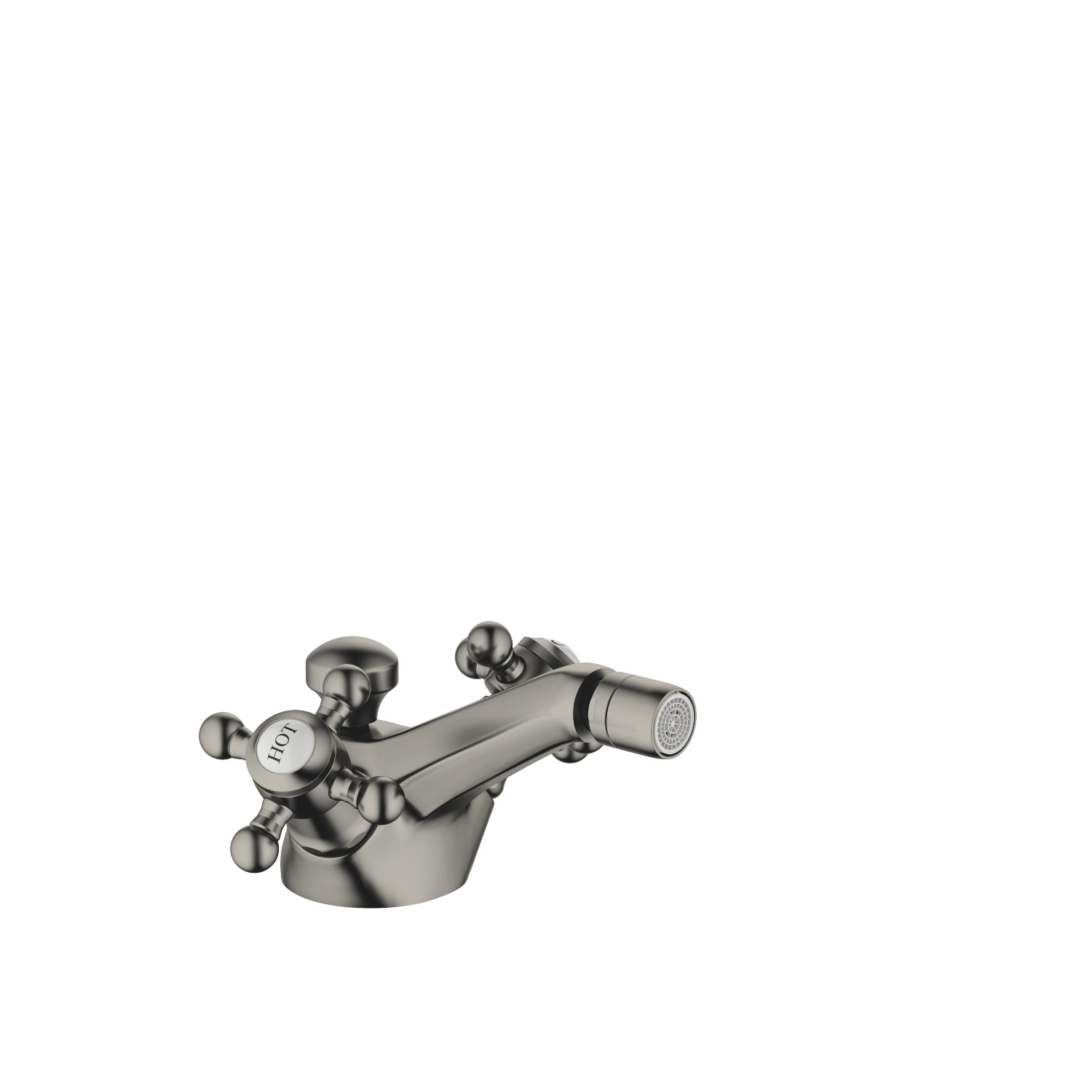 Single-hole bidet mixer with pop-up waste - Dark Platinum matt