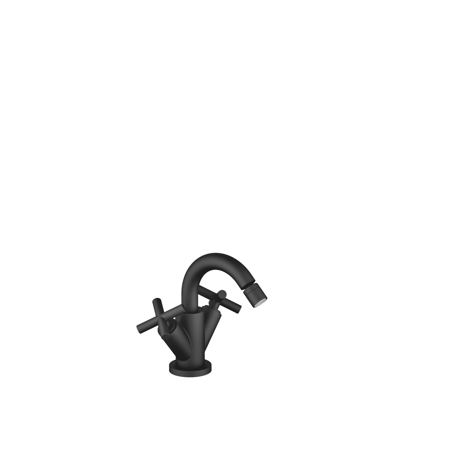 Single-hole bidet mixer with pop-up waste - matt black - 24 510 892-33