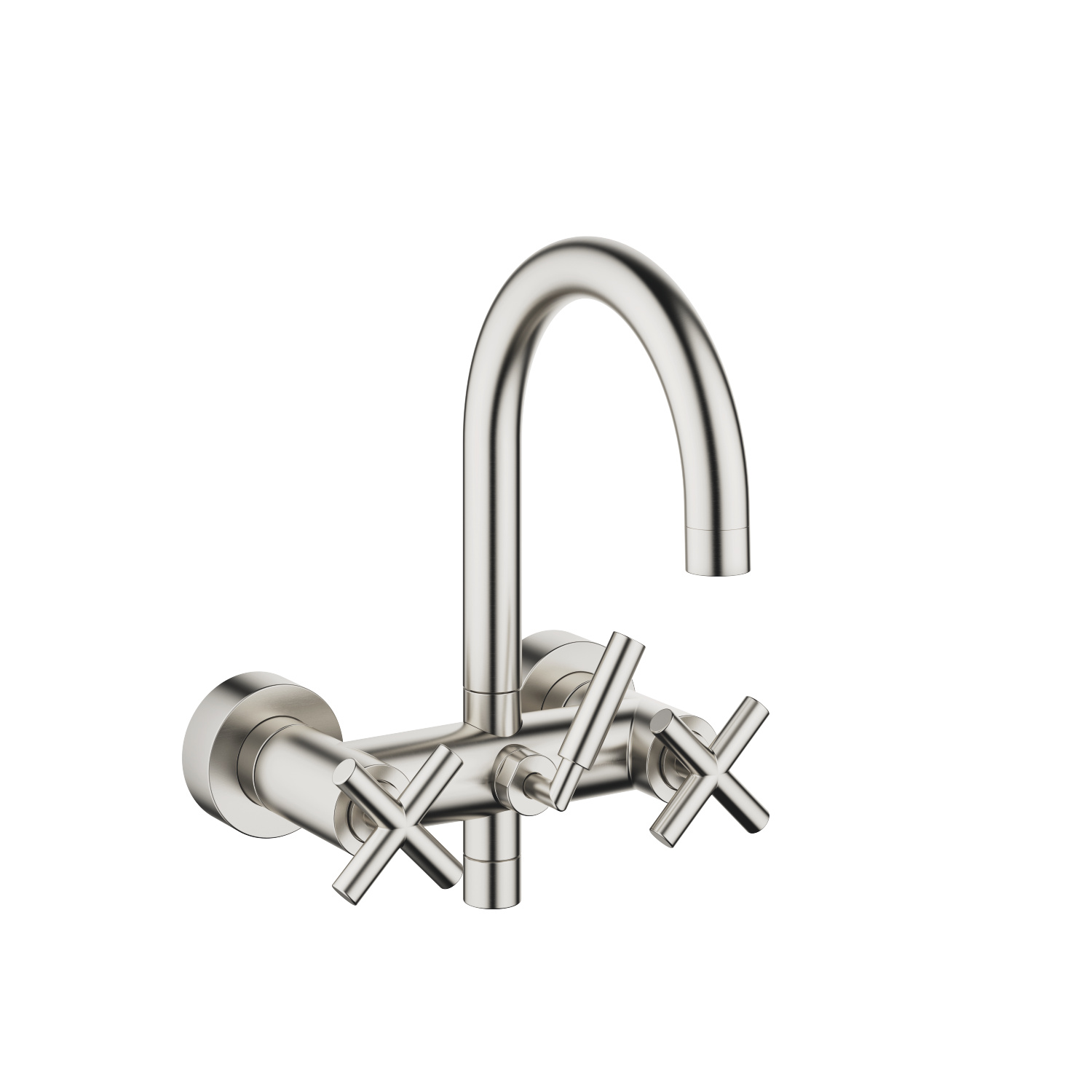 Bath mixer for wall mounting - platinum matt