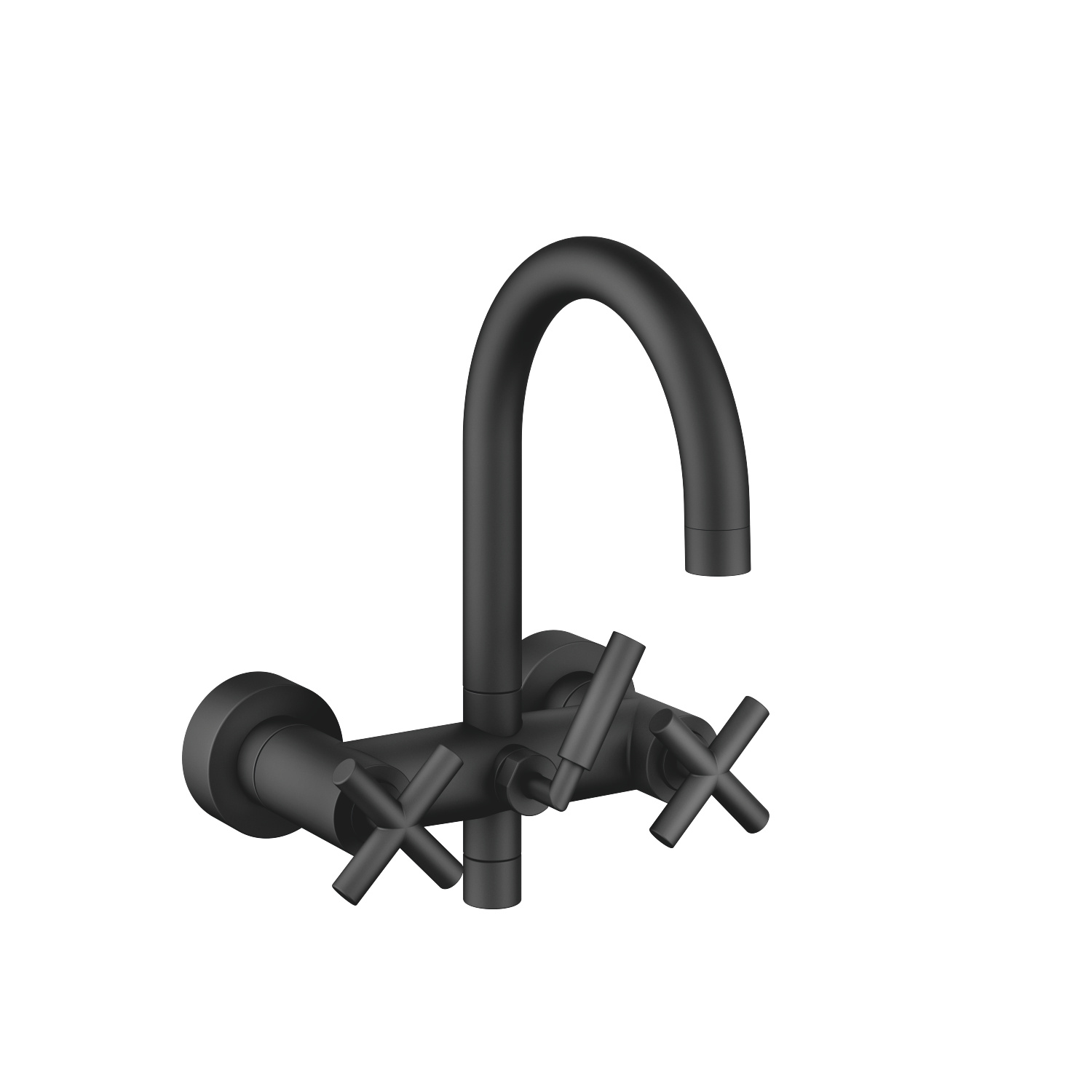 Bath mixer for wall mounting - matt black