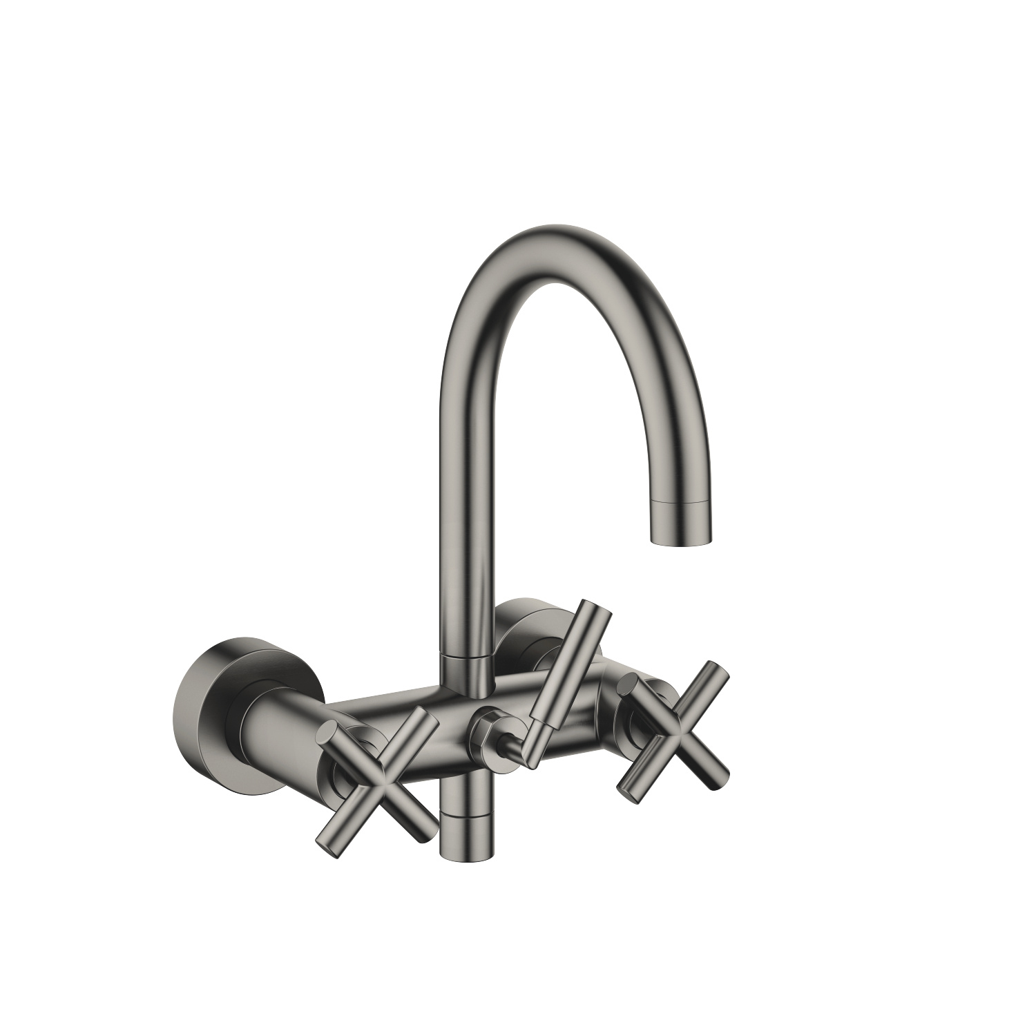 Tub mixer for wall-mounted installation - Dark Platinum matte