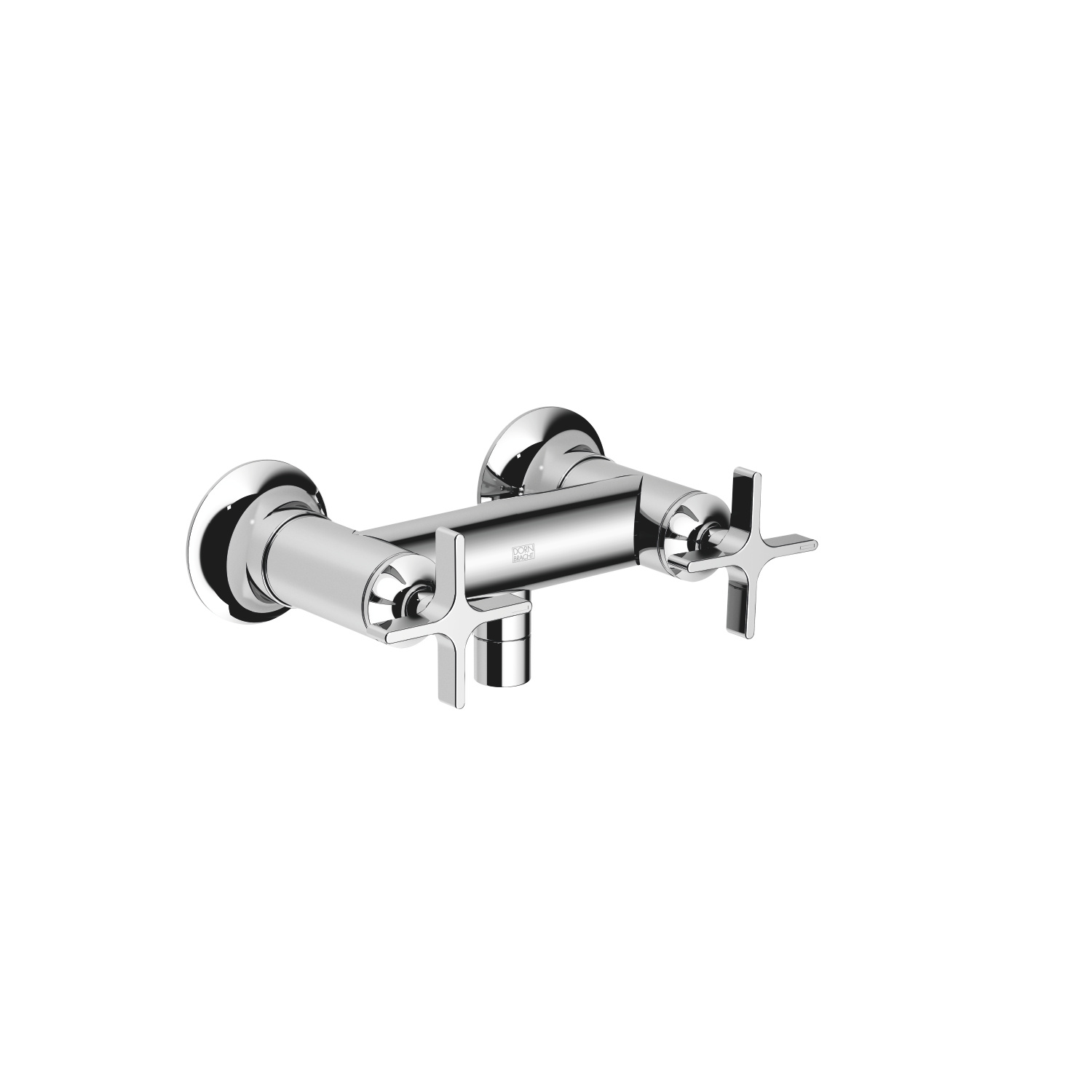Shower mixer for wall-mounted installation - polished chrome