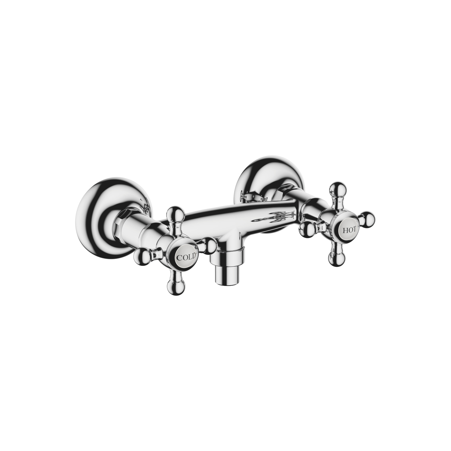 Shower mixer for wall mounting - polished chrome