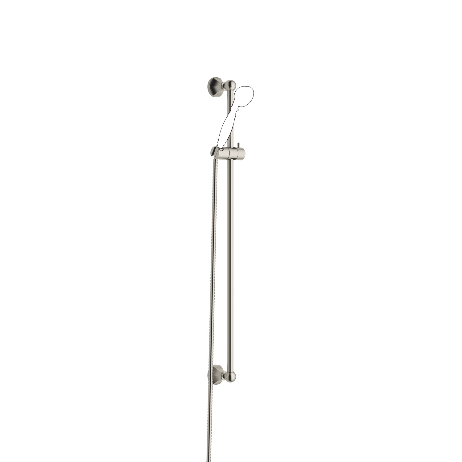 Garniture de douche - platine mat