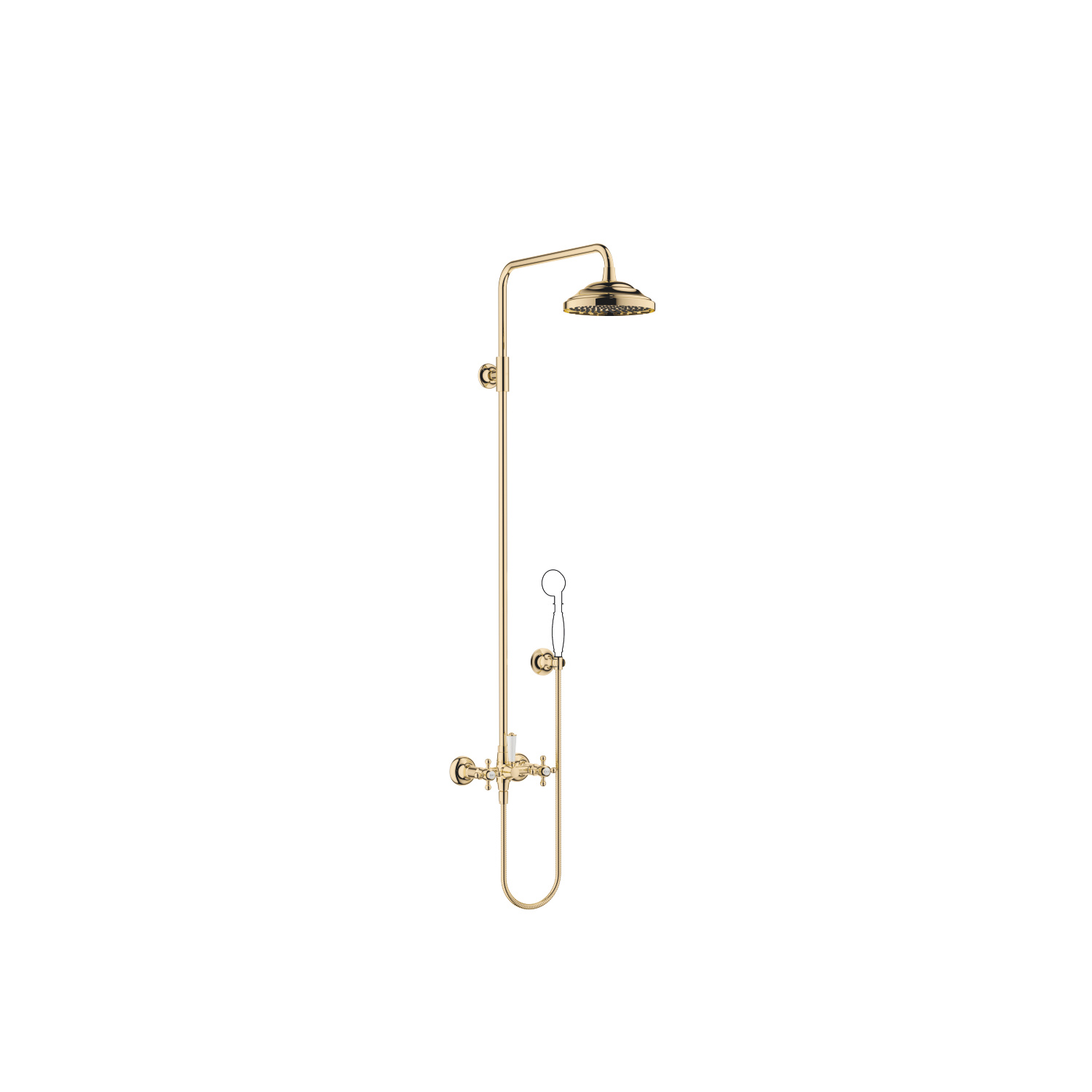 Showerpipe with shower mixer without hand shower - Durabrass