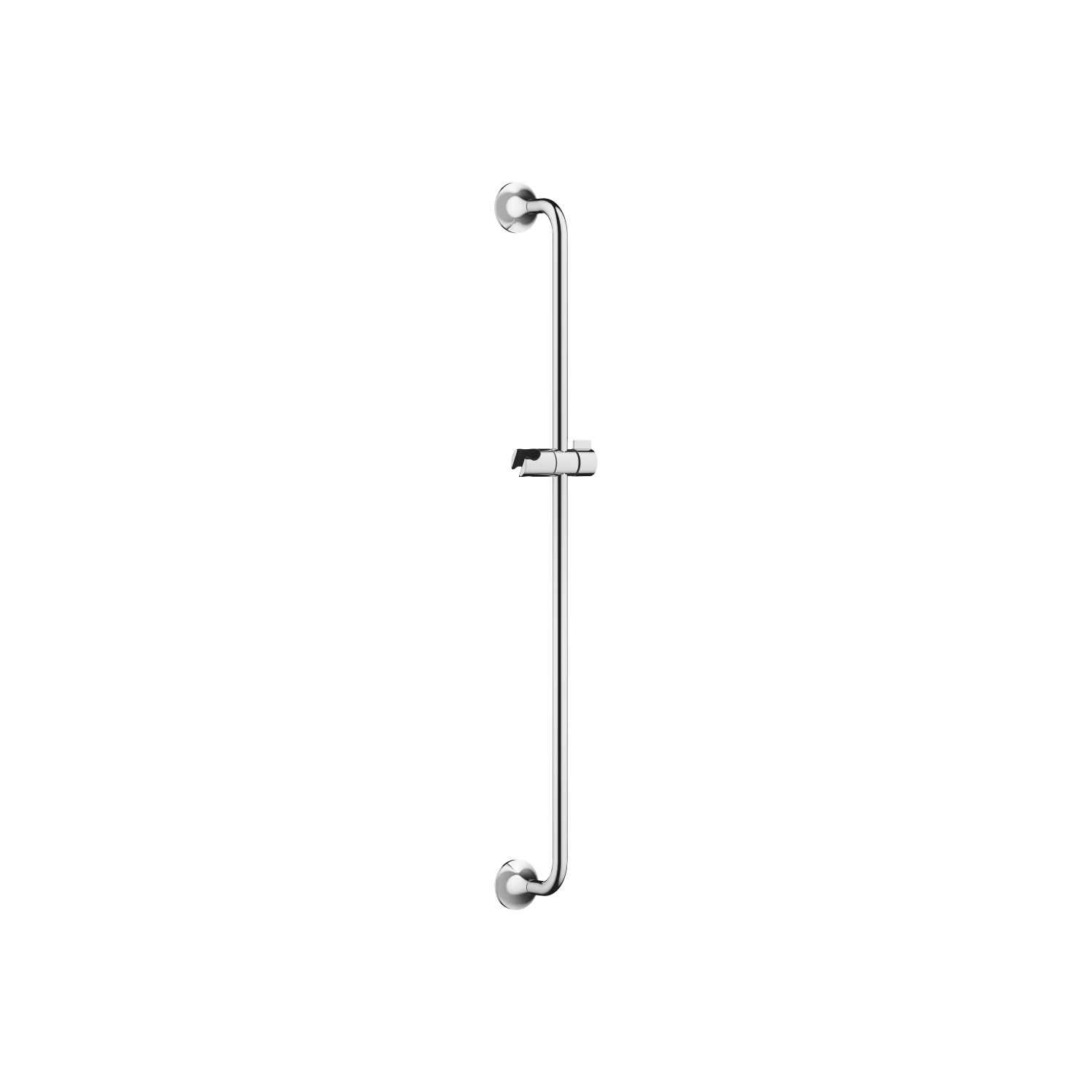Slide bar with slider - polished chrome