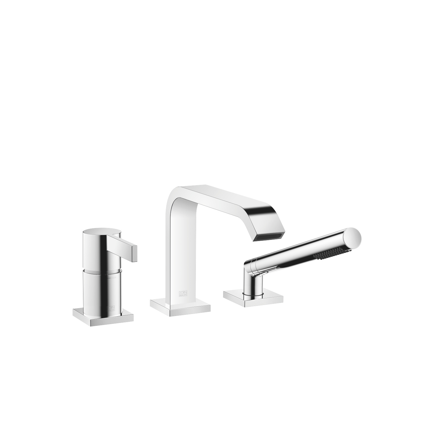Three-hole single-lever bath mixer for bath rim or tile edge installation - polished chrome - 27 412 670-00