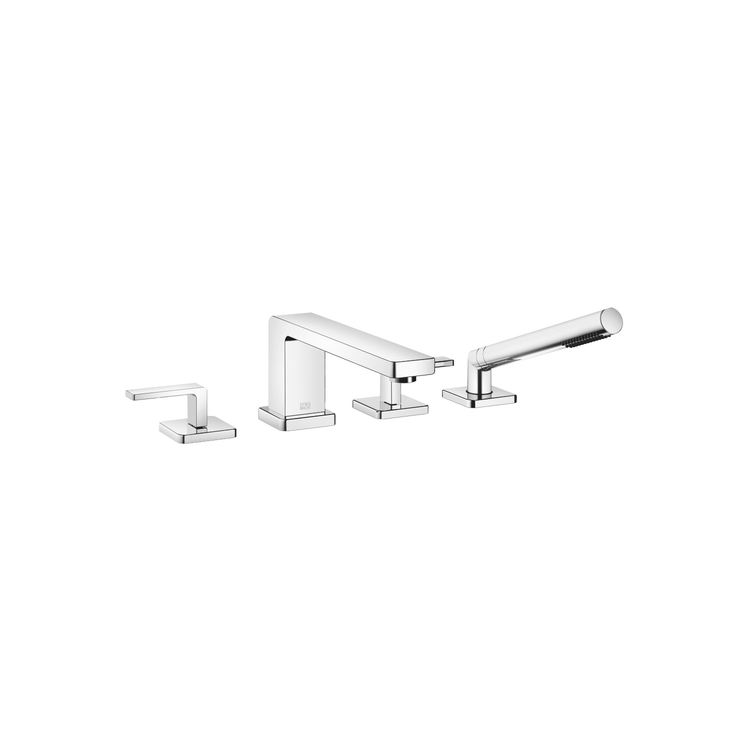 Bath shower set for bath rim or tile edge installation - polished chrome - 27 512 710-00