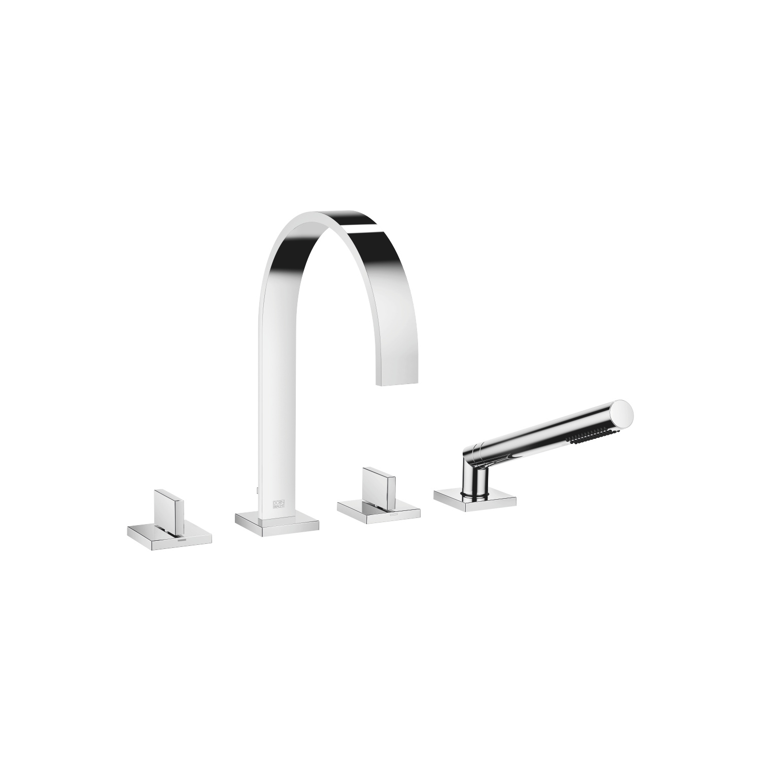 Bath shower set for bath rim or tile edge installation - polished chrome - 27 532 782-00