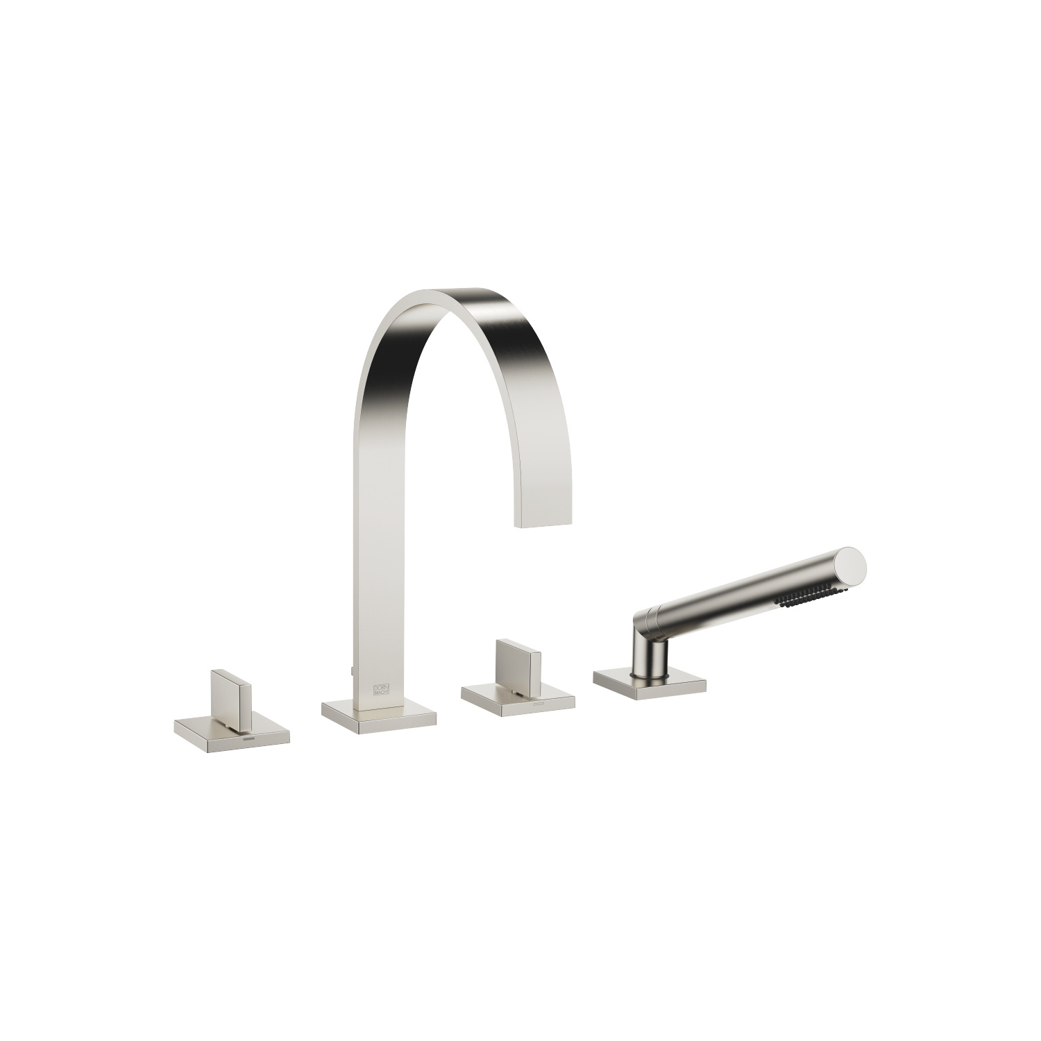 Bath shower set for bath rim or tile edge installation - platinum matt