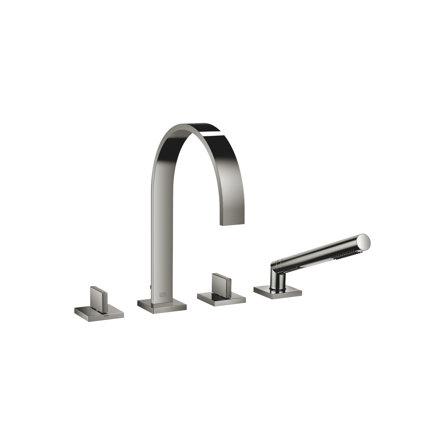 Bath shower set for bath rim or tile edge installation - platinum - 27 532 782-08