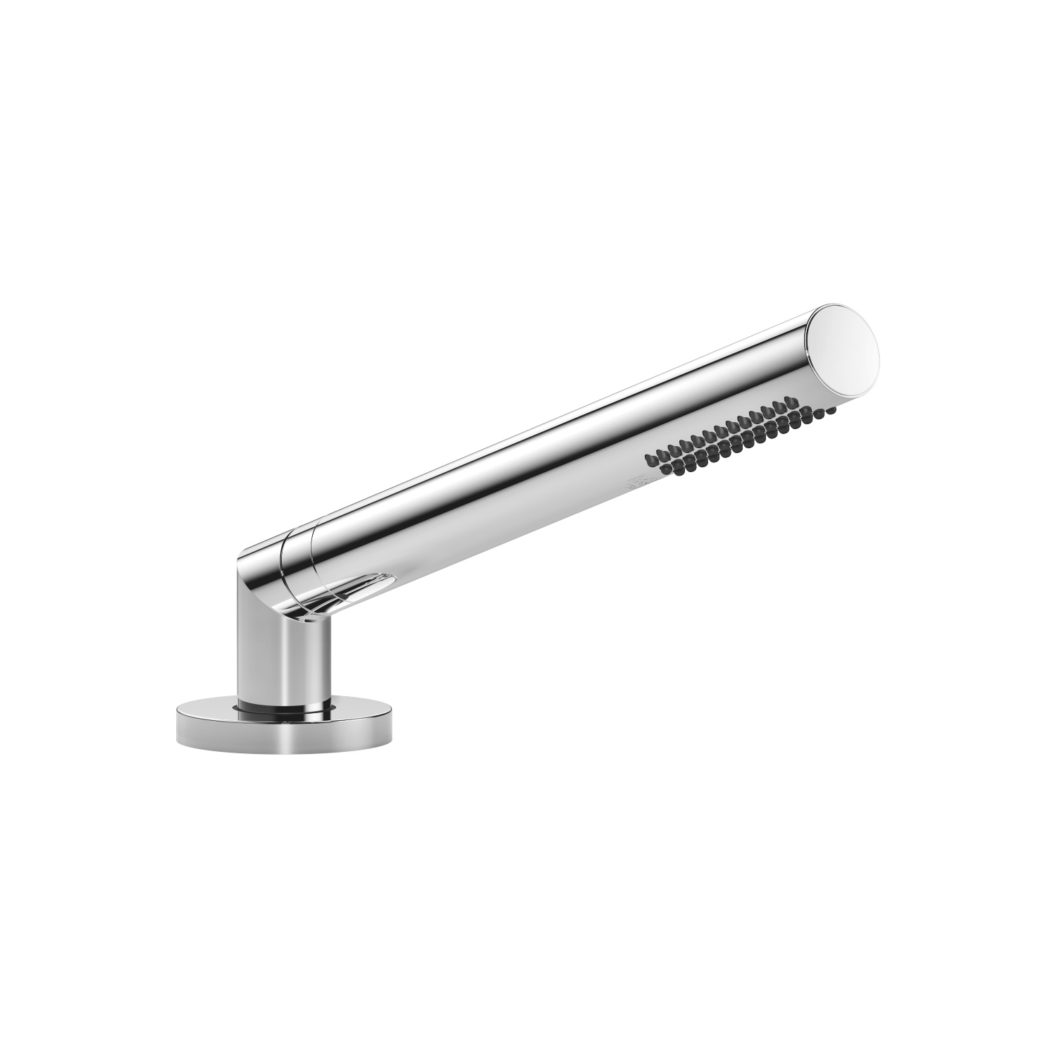 Hand shower set for deck-mounted tub installation - polished chrome