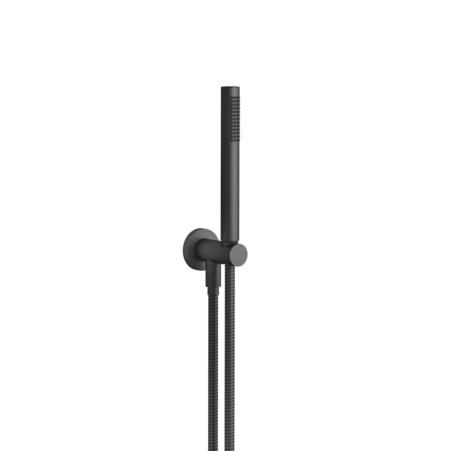 Hand shower set with integrated wall bracket - black matte