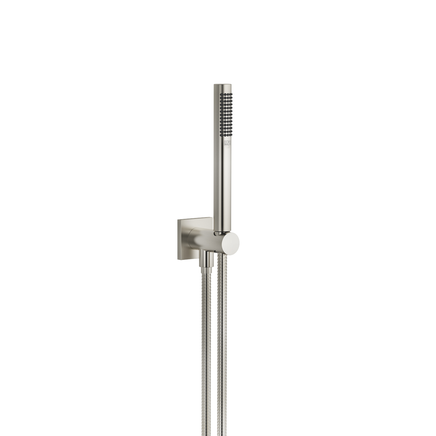 Hand shower set with integrated shower holder - platinum matt