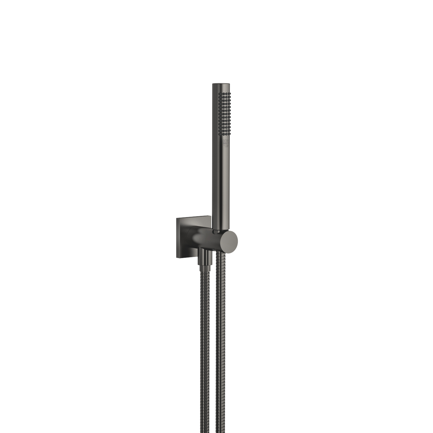 Hand shower set with integrated shower holder - Dark Platinum matt