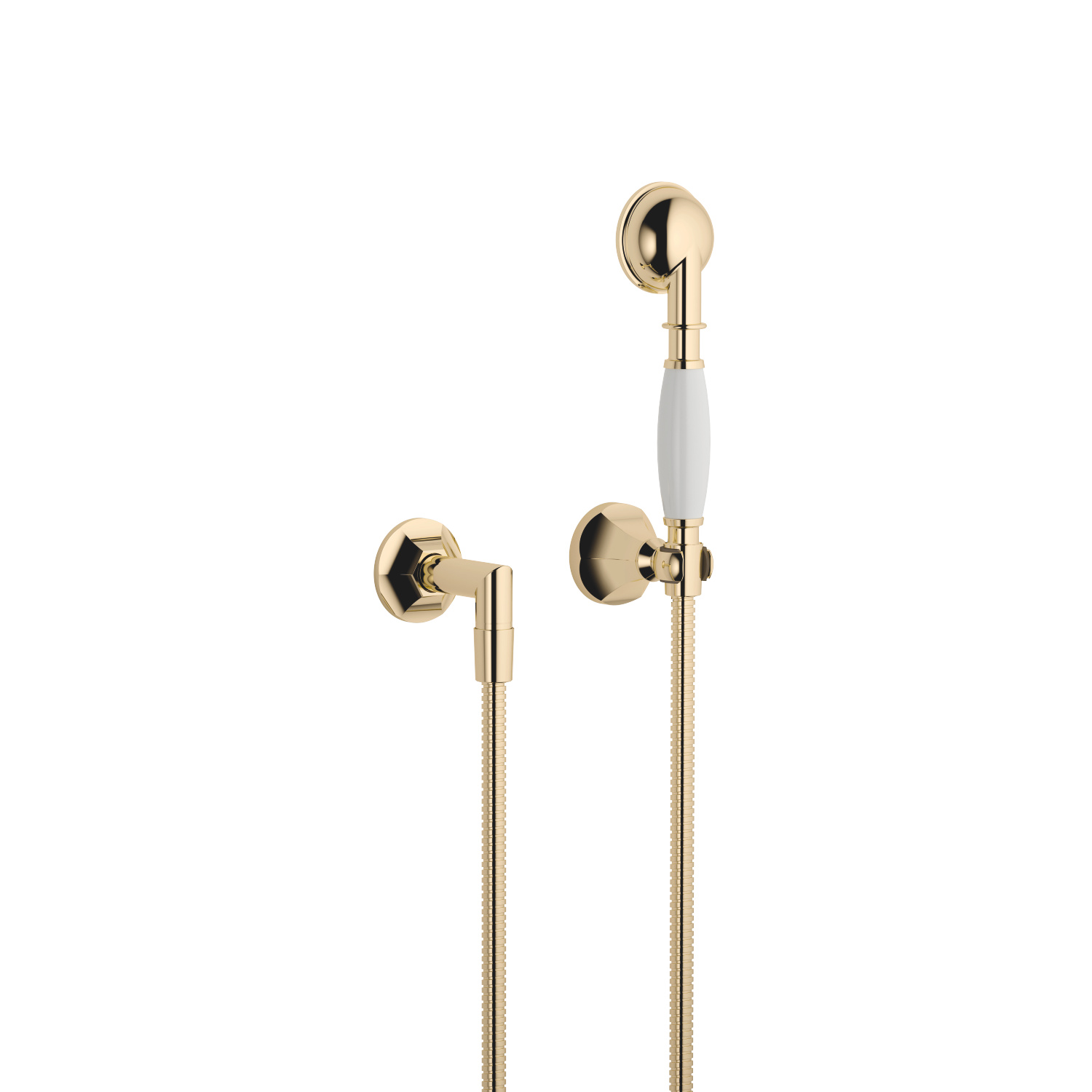 Hand shower set with individual rosettes - Durabrass