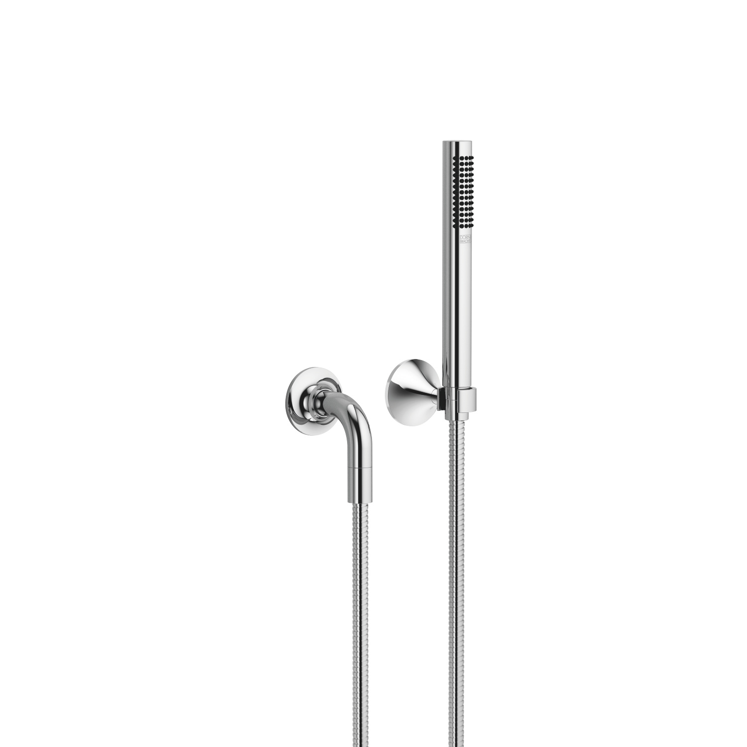 Hand shower set with individual flanges - polished chrome