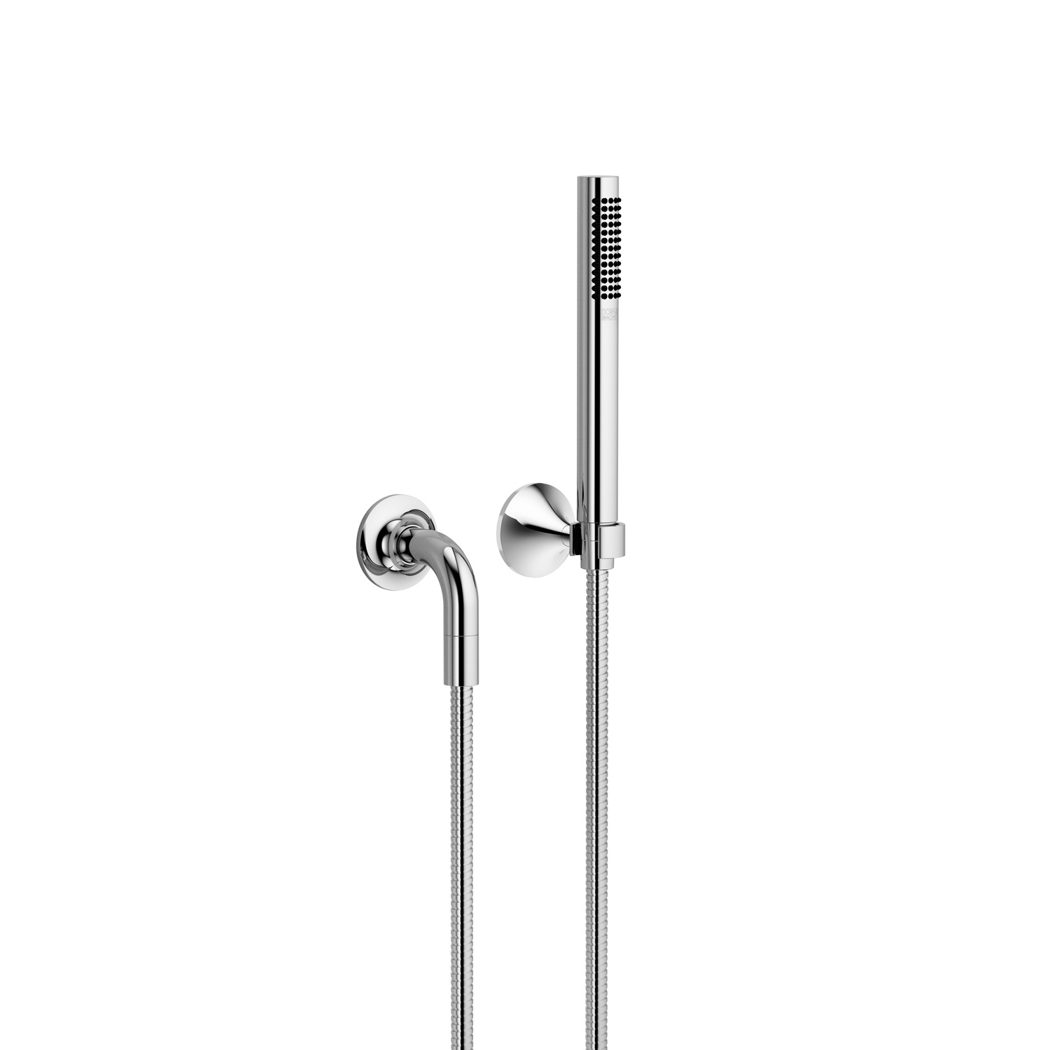 Hand shower set with individual rosettes - polished chrome - 27 808 809-00