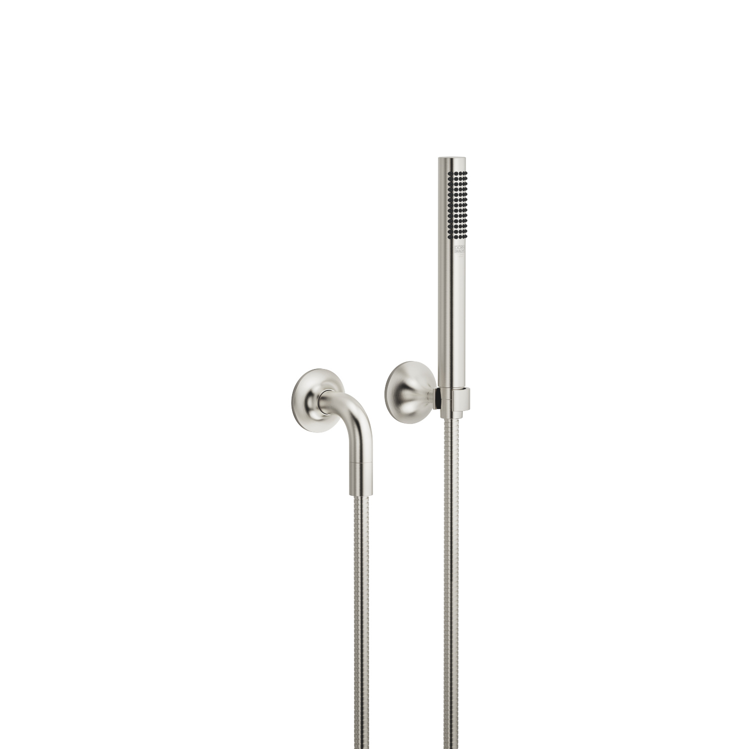 Hand shower set with individual rosettes - platinum matt