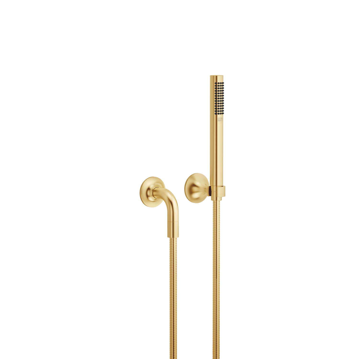 Hand shower set with individual rosettes - brushed Durabrass
