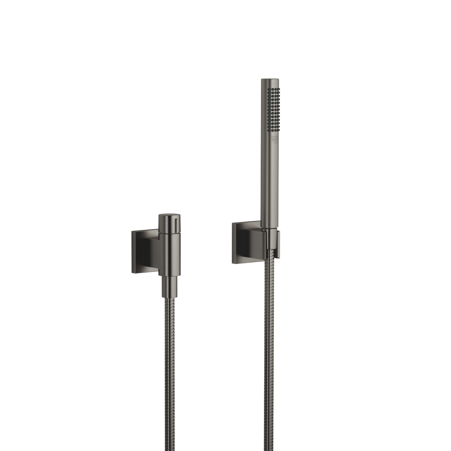Hand shower set with individual flanges with volume control - Dark Platinum matte