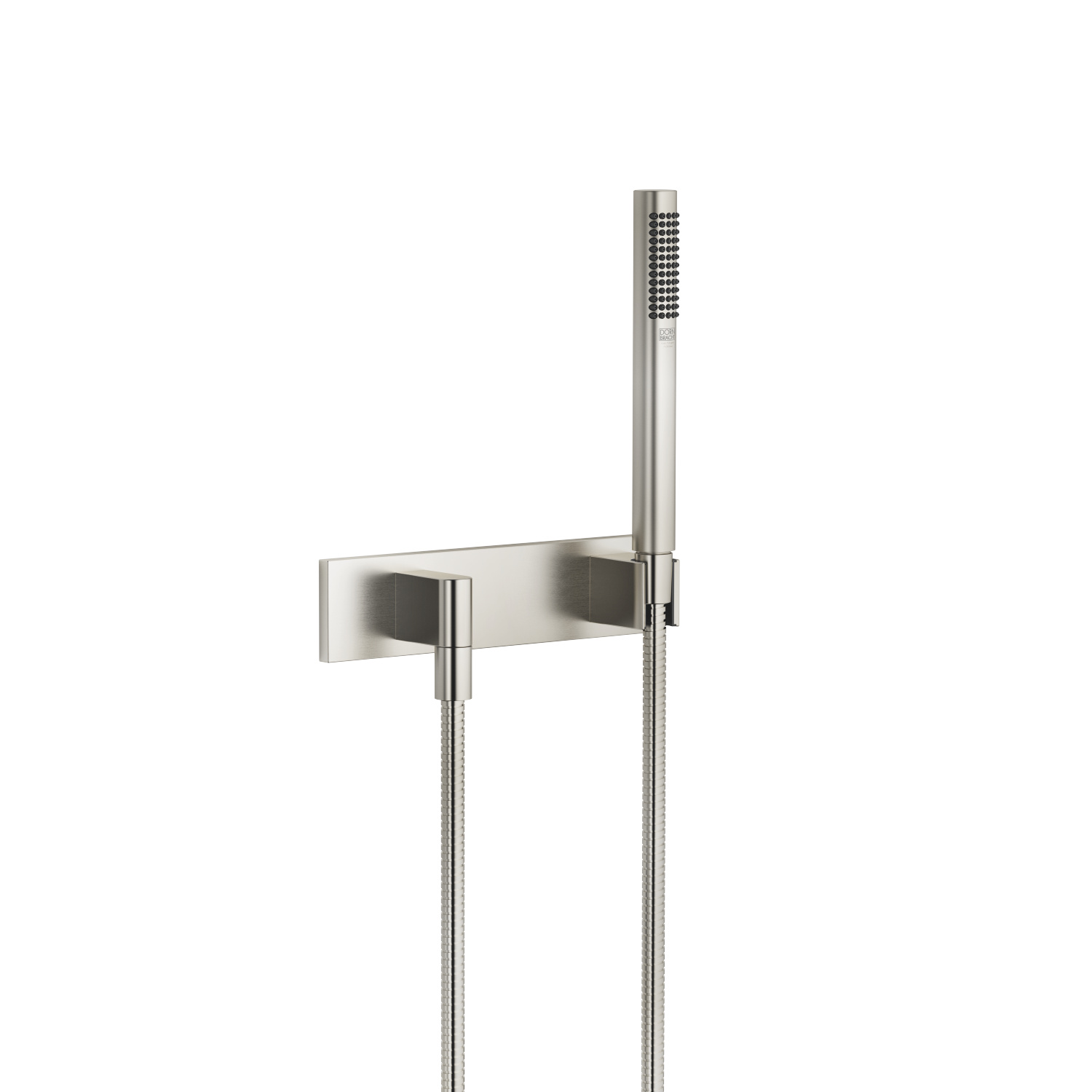 Hand shower set with cover plate - platinum matt